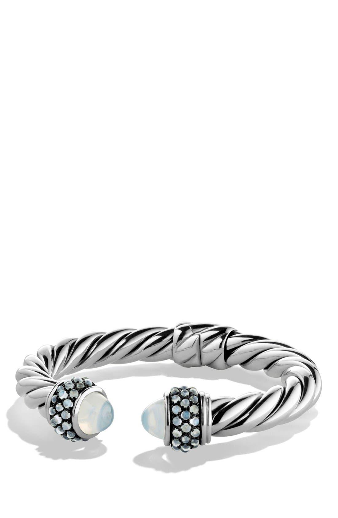 Bracelet with Semiprecious Stones, 10mm,                             Main thumbnail 1, color,                             MOON/ MILKY QUARTZ