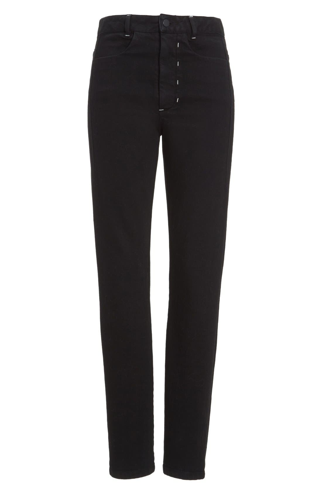 Stovepipe Stretch Jeans,                             Alternate thumbnail 4, color,                             001