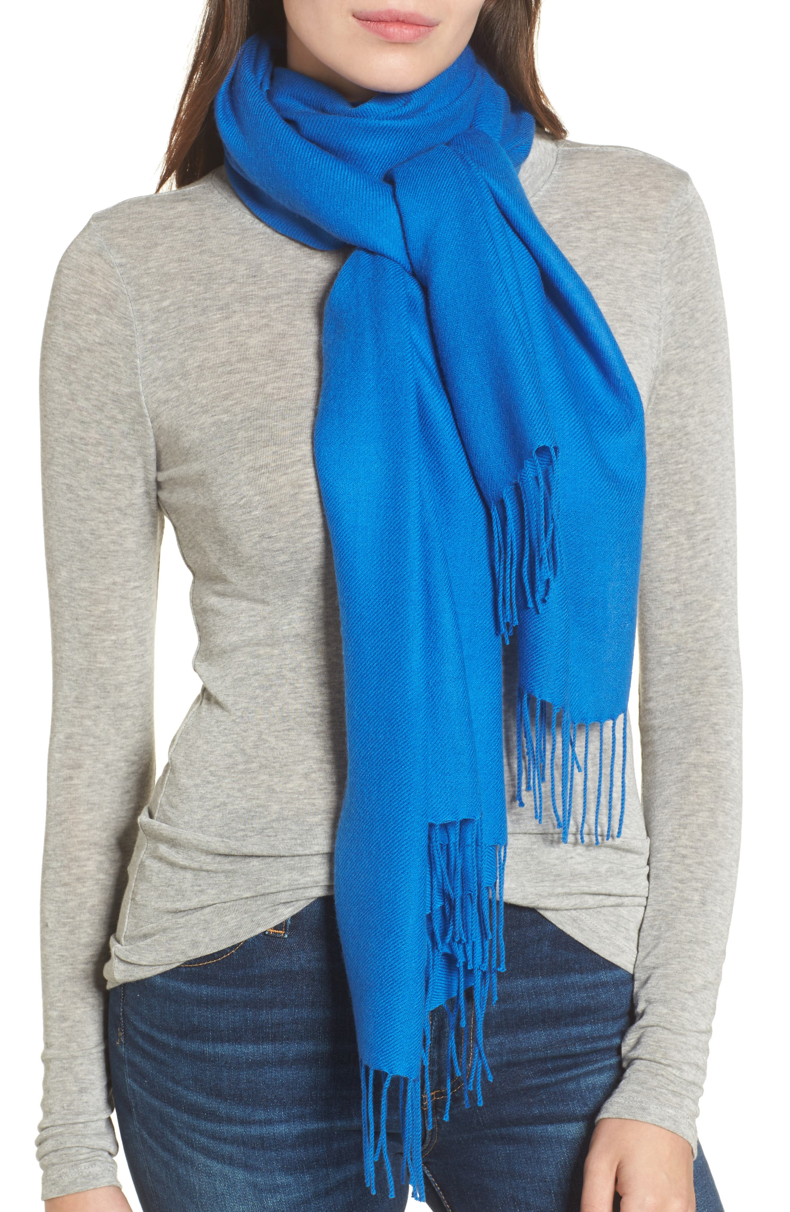 Tissue Weight Wool & Cashmere Scarf,                             Main thumbnail 33, color,