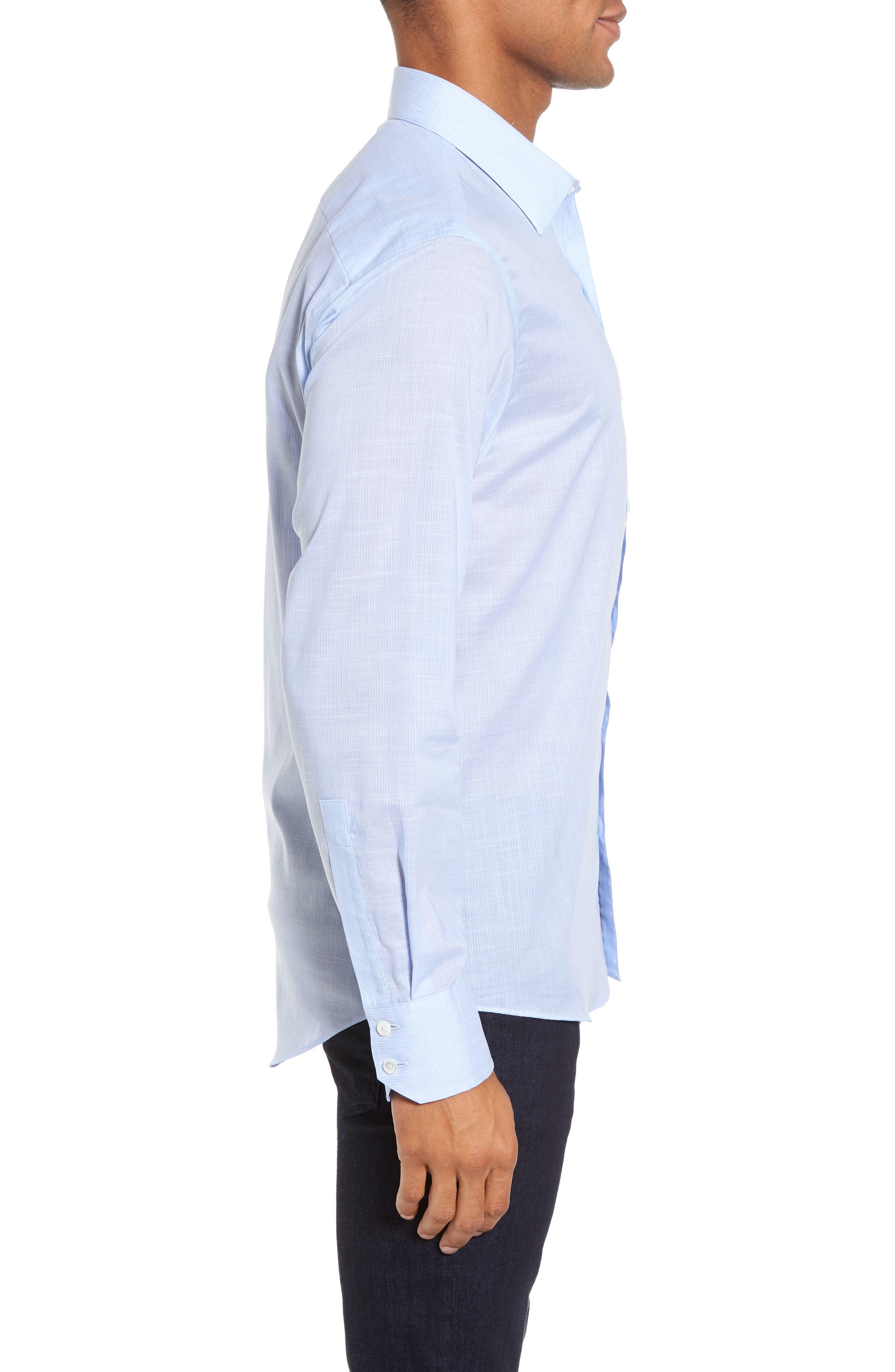 Ridley Slim Fit Texture Sport Shirt,                             Alternate thumbnail 3, color,