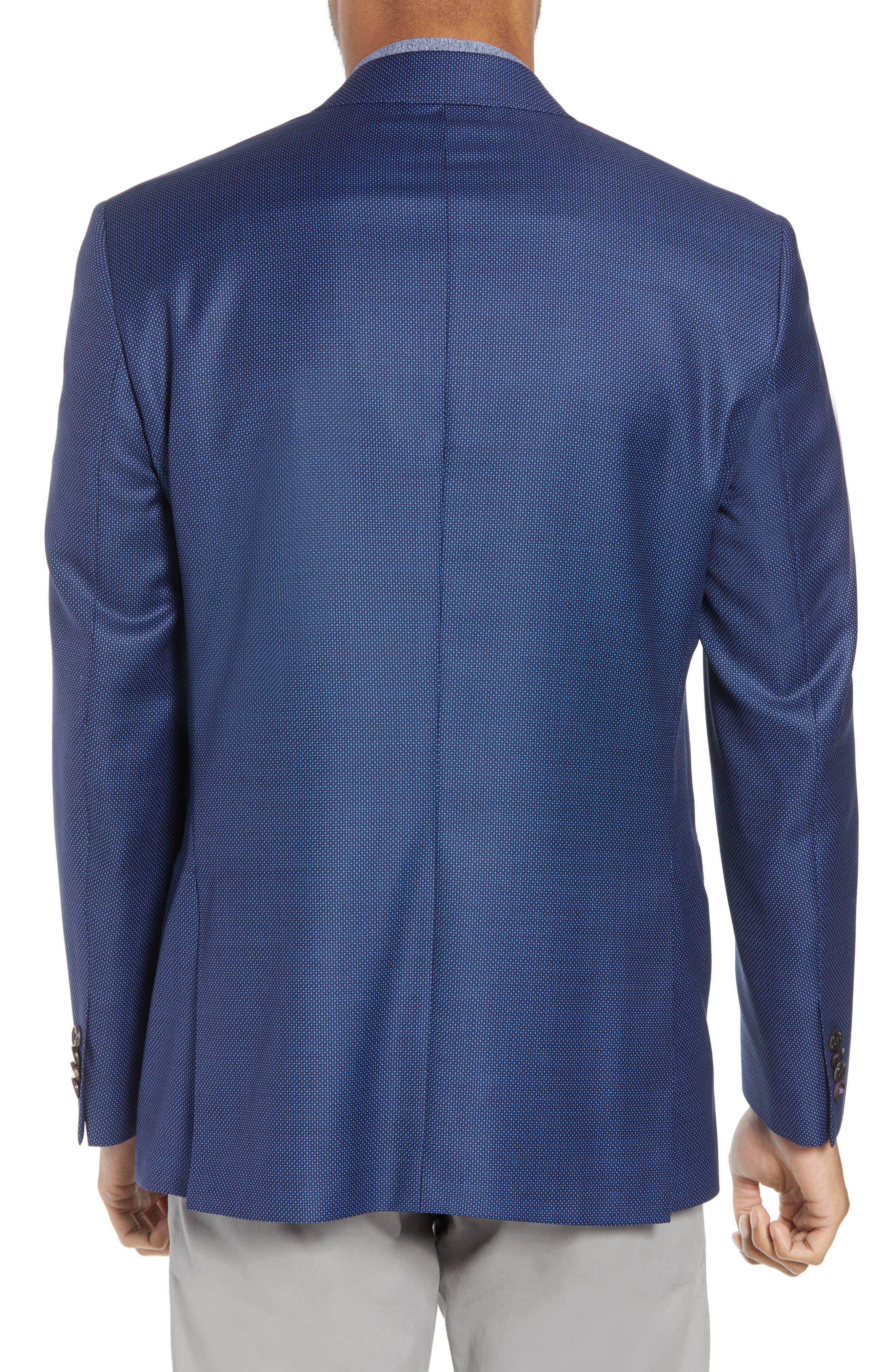Jay Trim Fit Microdot Wool Sport Coat,                             Alternate thumbnail 2, color,                             400