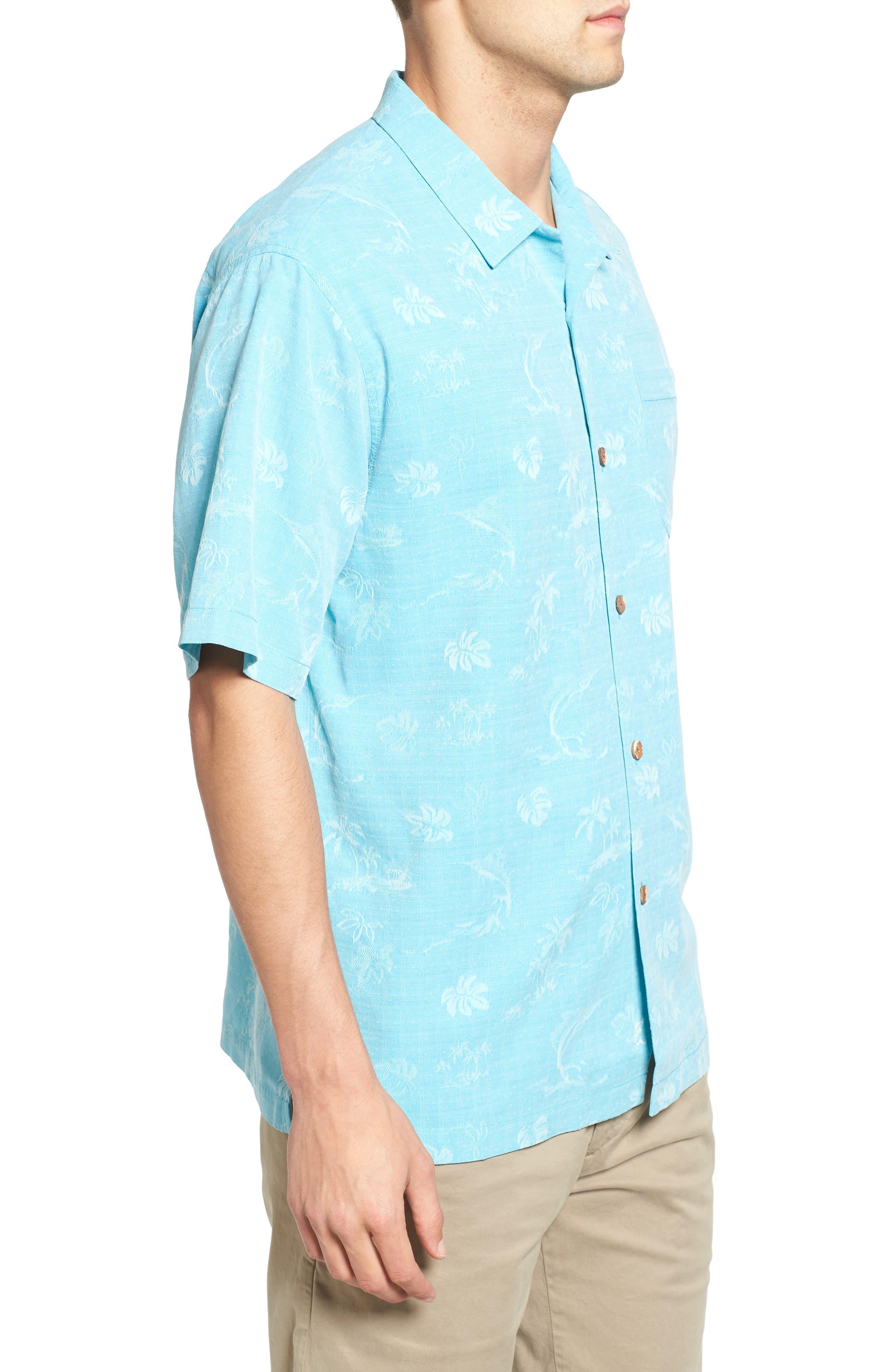 Gulf Shore Marlin Silk Camp Shirt,                             Alternate thumbnail 13, color,