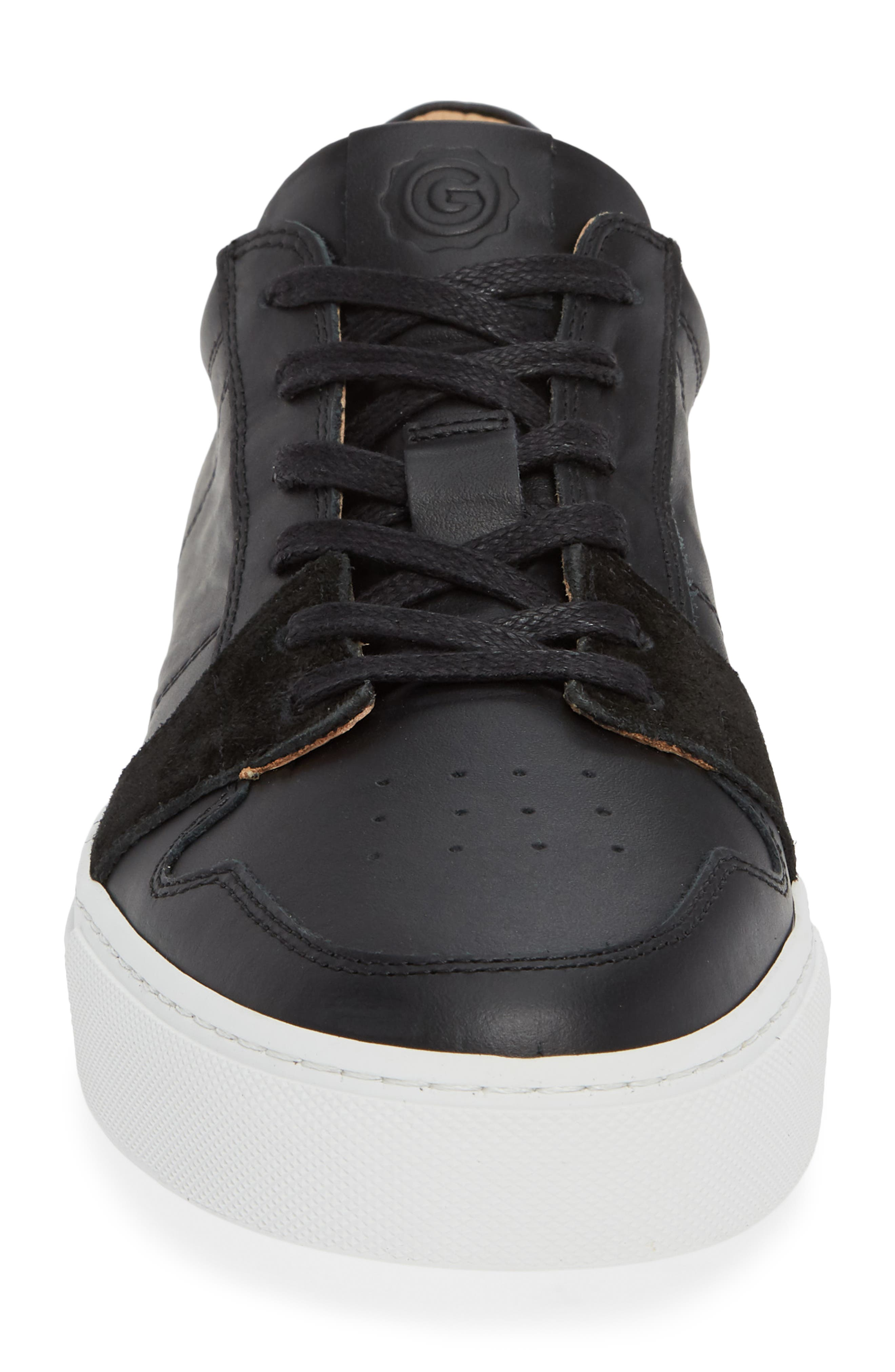Nick Wooster x GREATS Court Low Top Sneaker,                             Alternate thumbnail 4, color,                             BLACK