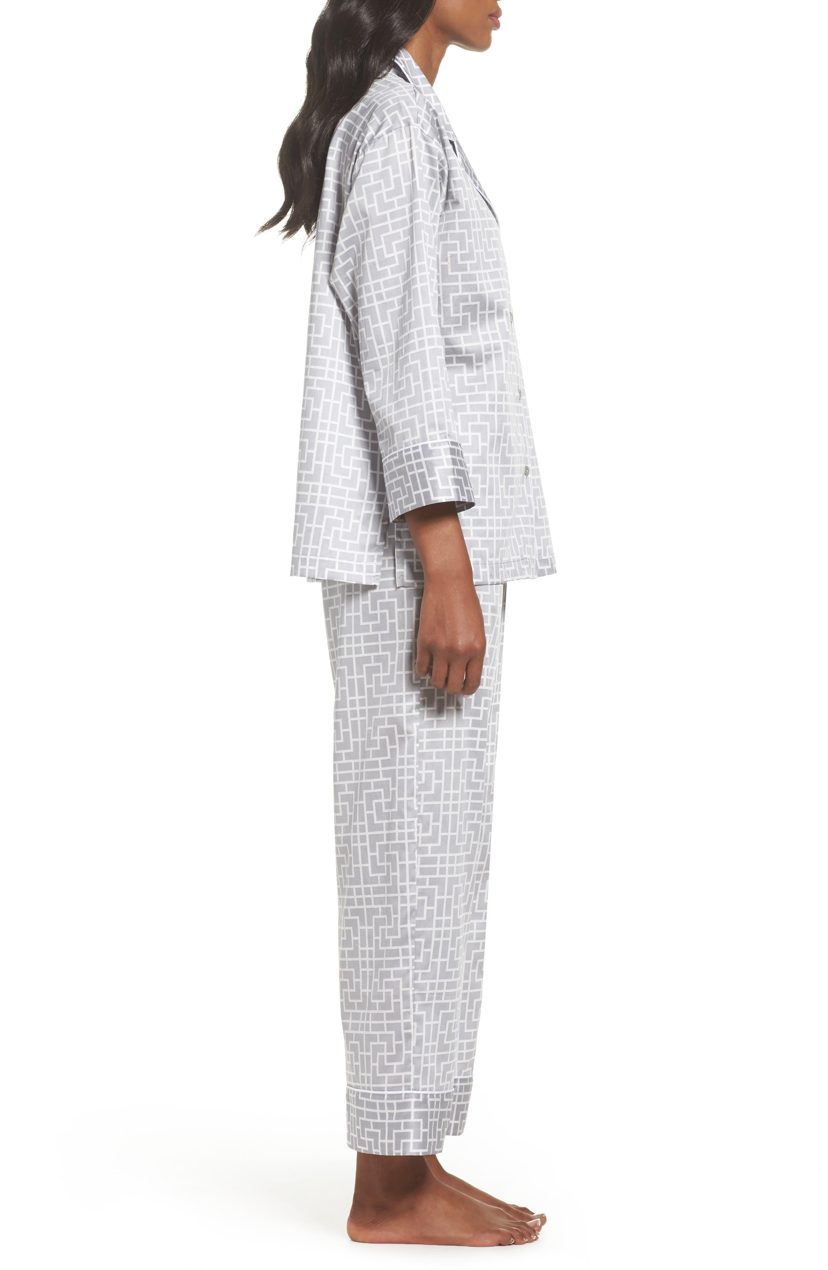 Abstract Maze Sateen Pajamas,                             Alternate thumbnail 3, color,                             020