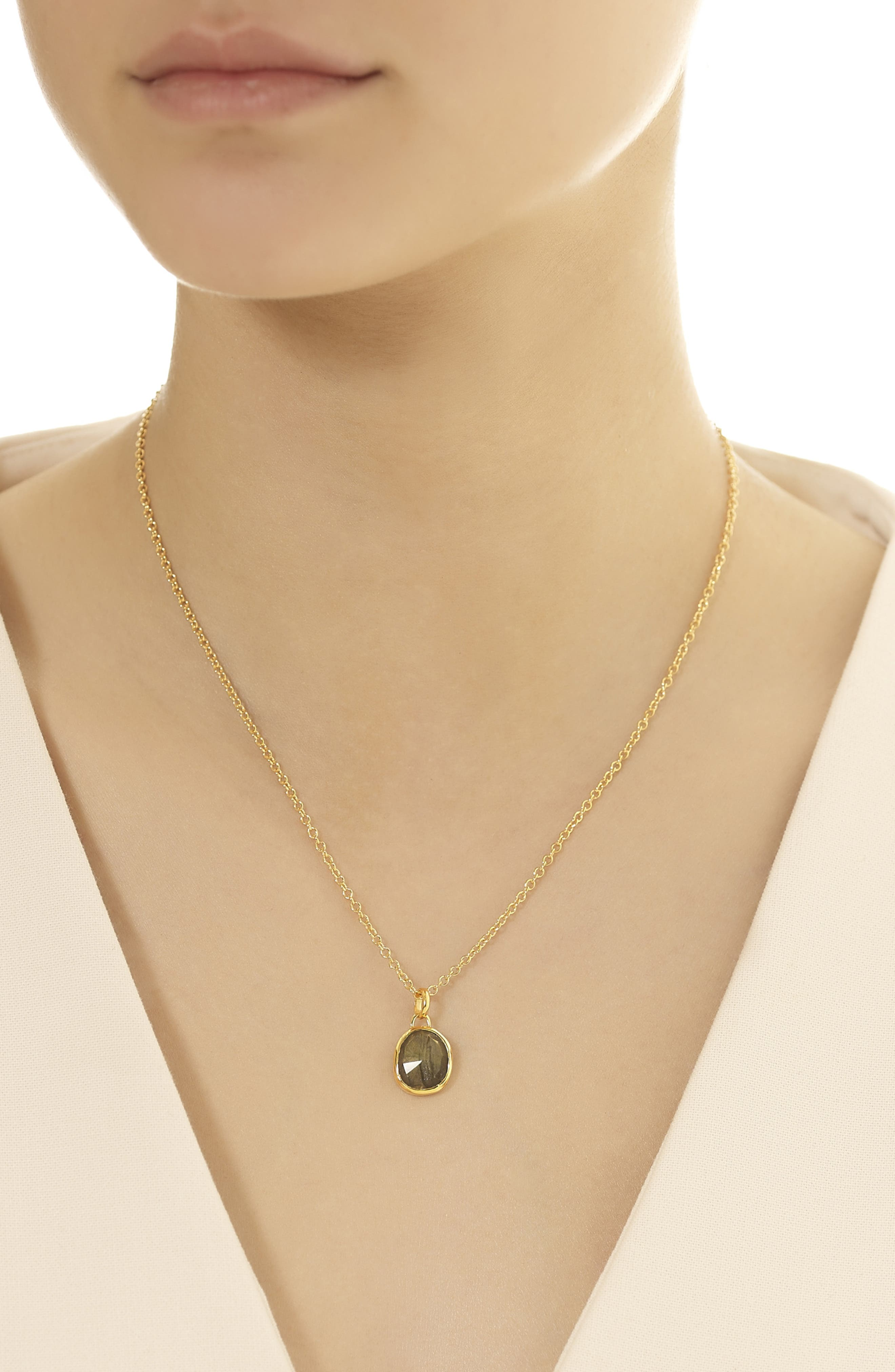 Rolo Chain Necklace,                             Alternate thumbnail 2, color,                             YELLOW GOLD