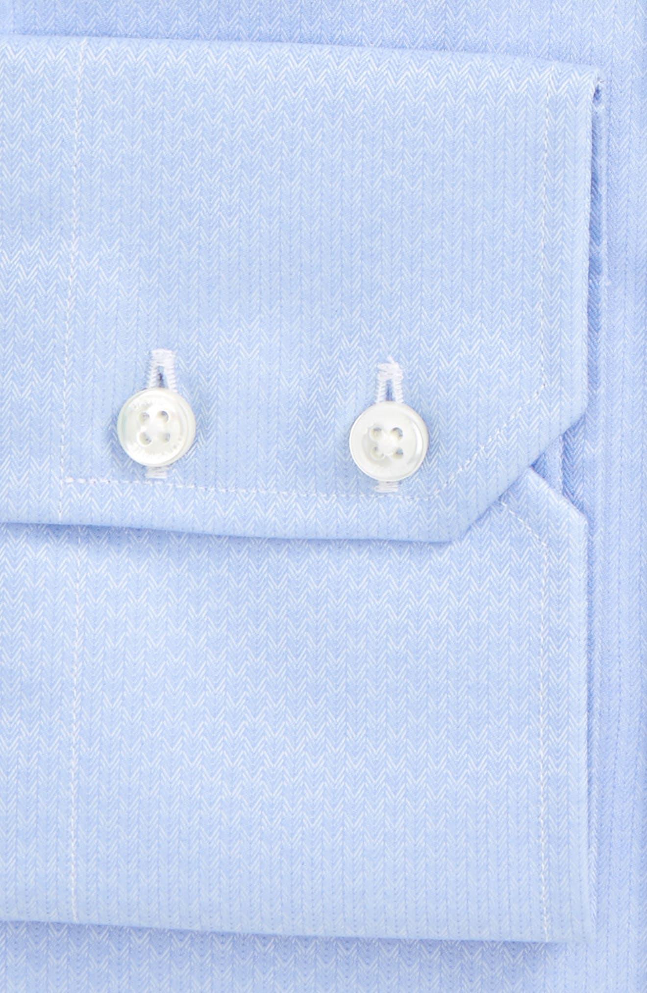 Trim Fit Herringbone Weave Dress Shirt,                             Alternate thumbnail 2, color,                             423