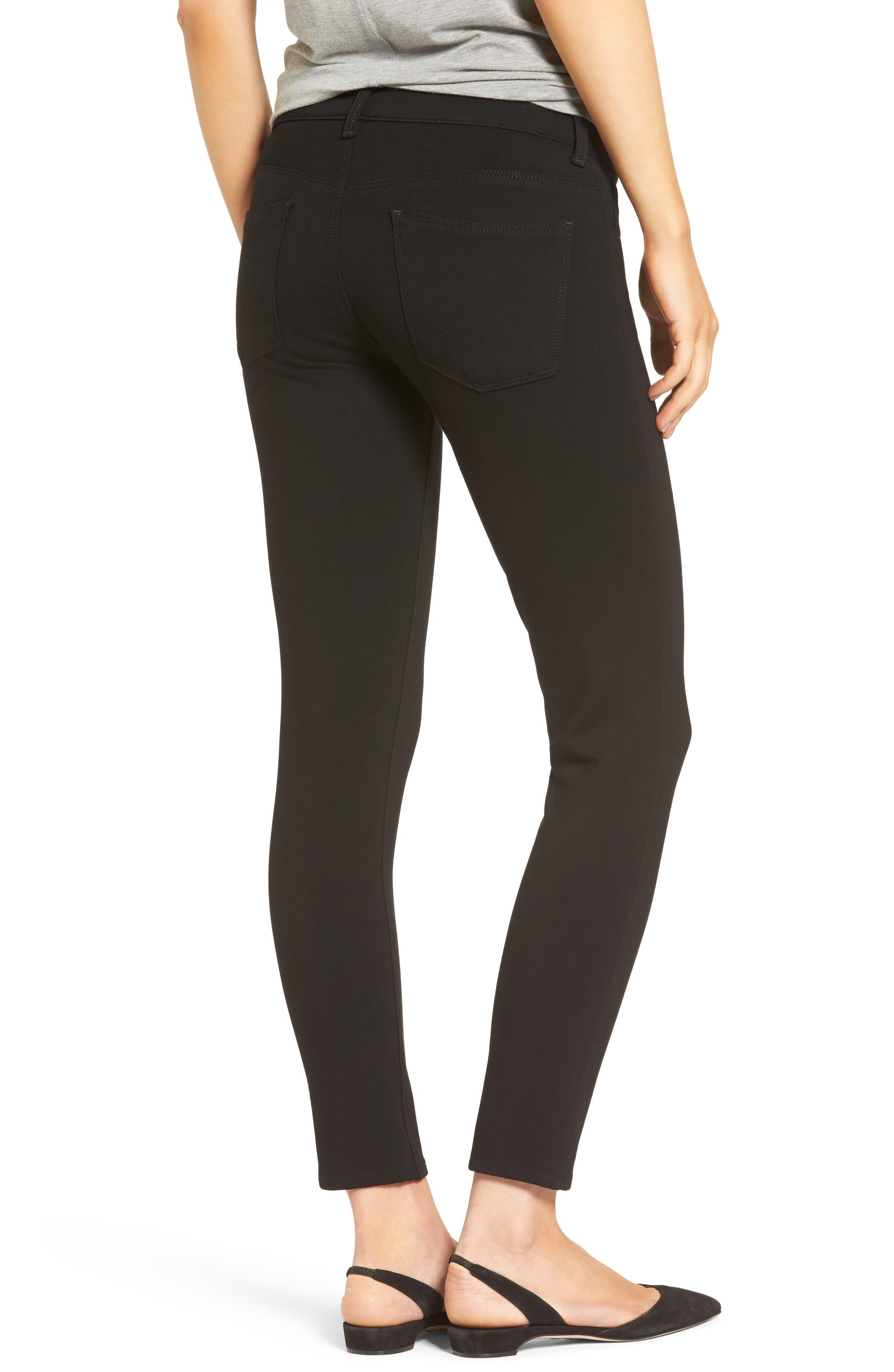 Donna Ponte Knit Skinny Jeans,                             Alternate thumbnail 2, color,                             002