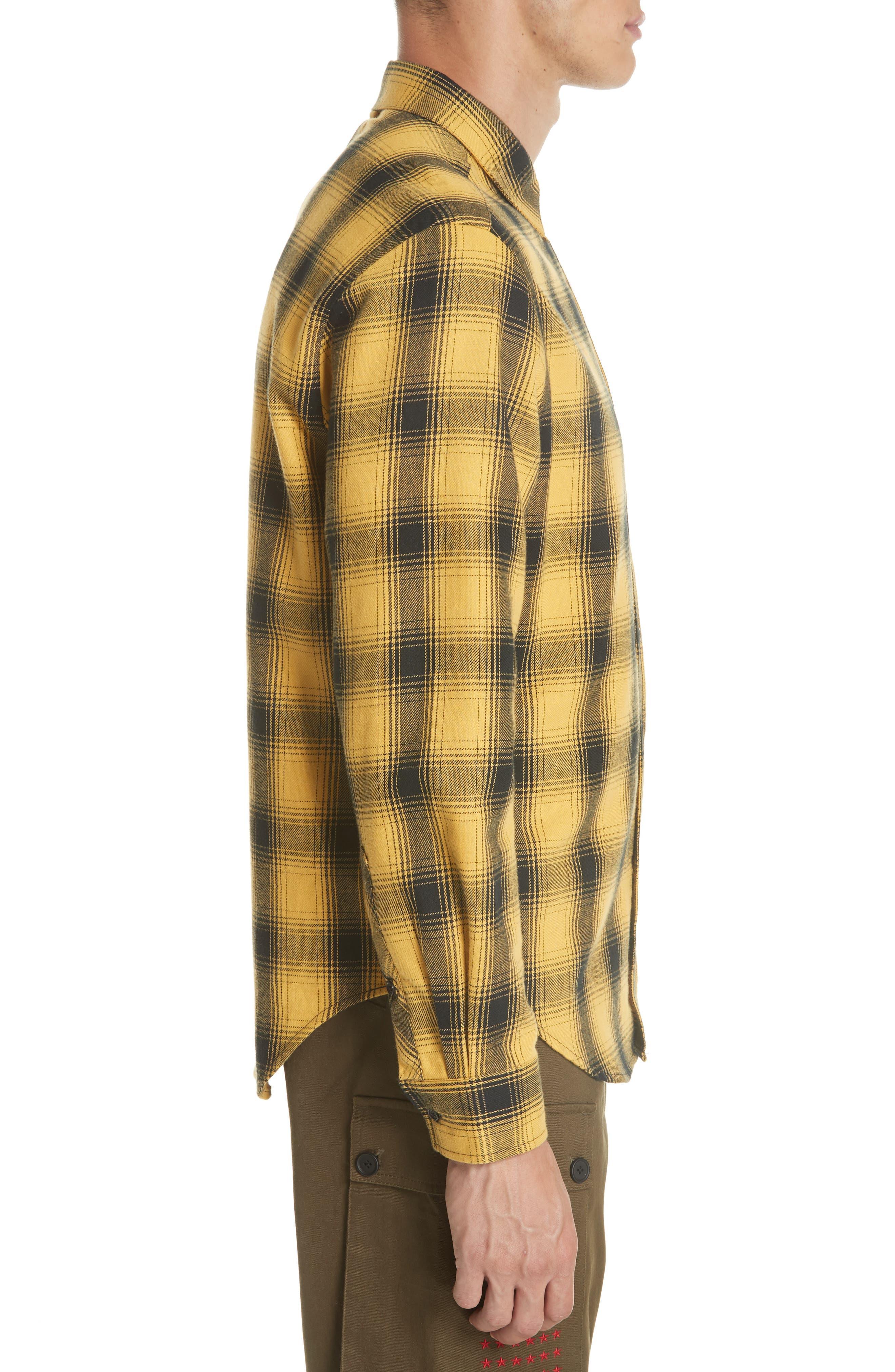 Max Plaid Flannel Shirt,                             Alternate thumbnail 4, color,                             GOLD PLAID