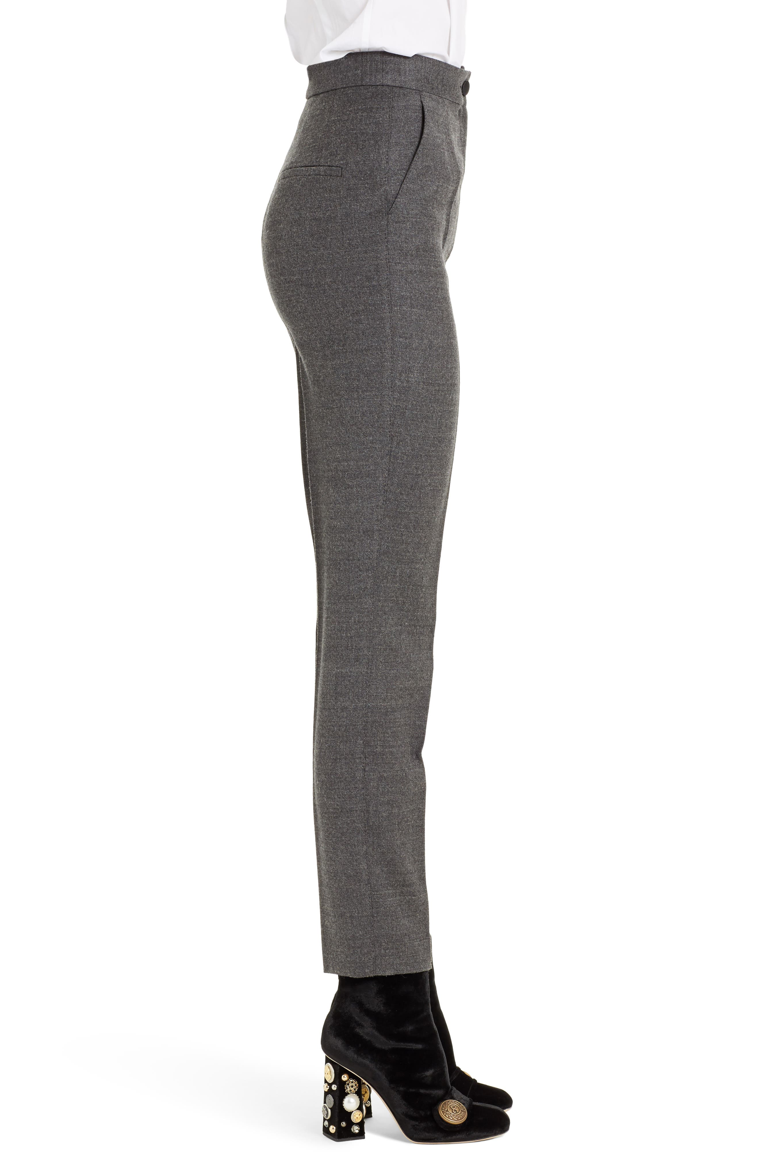 Stretch Wool Flannel Pants,                             Alternate thumbnail 3, color,                             021