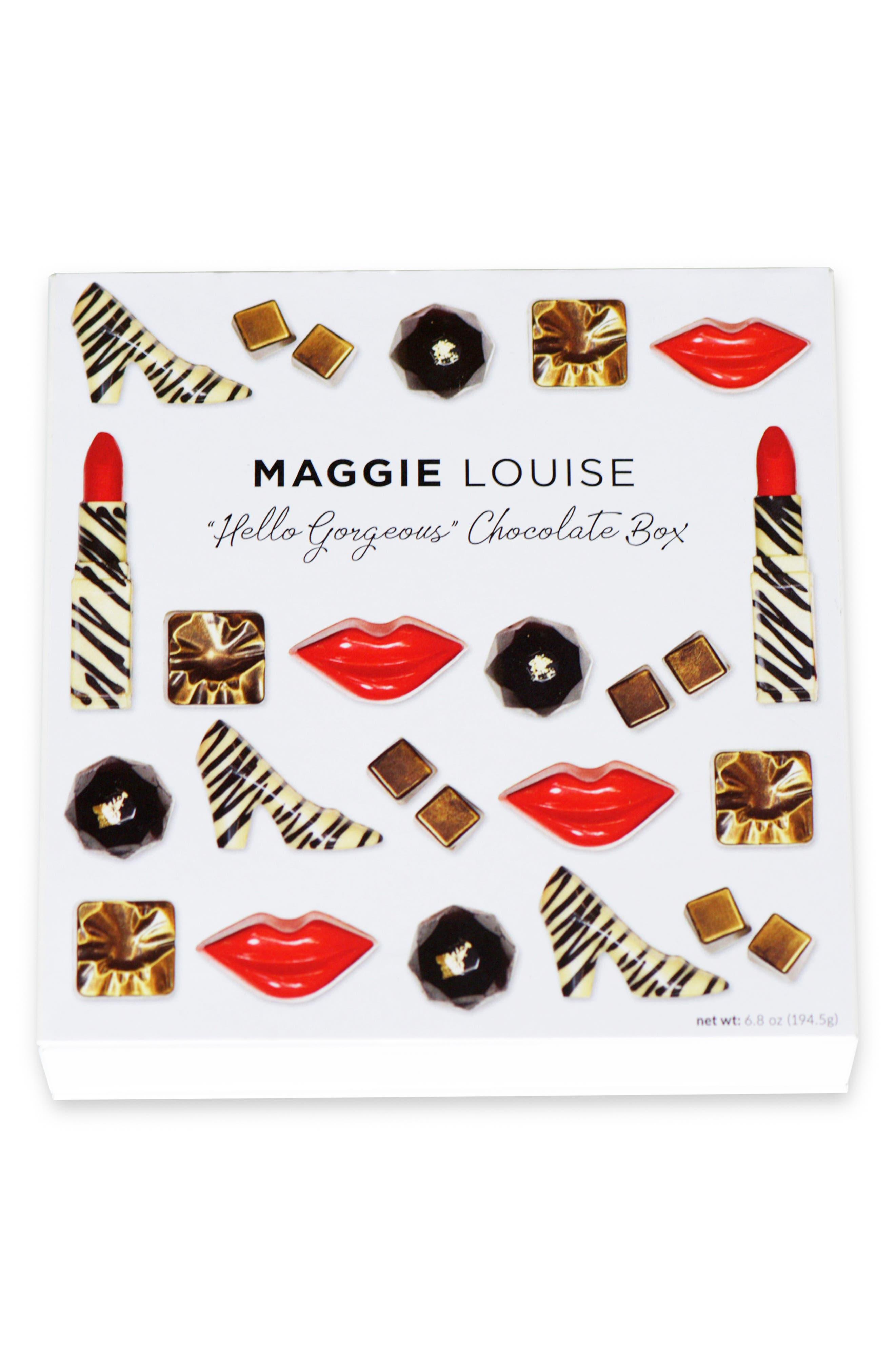 Hello, Gorgeous 16-Piece Chocolate Set,                             Alternate thumbnail 2, color,                             WHITE