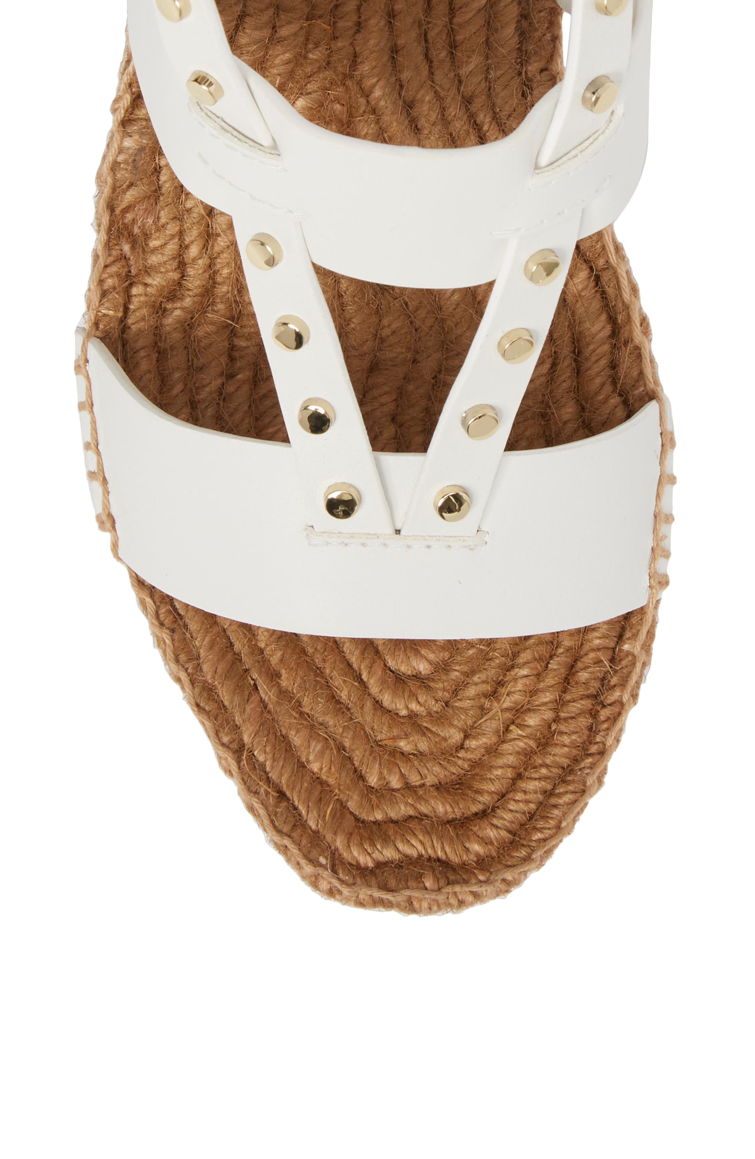Danica Studded Wedge Espadrille,                             Alternate thumbnail 5, color,                             WHITE