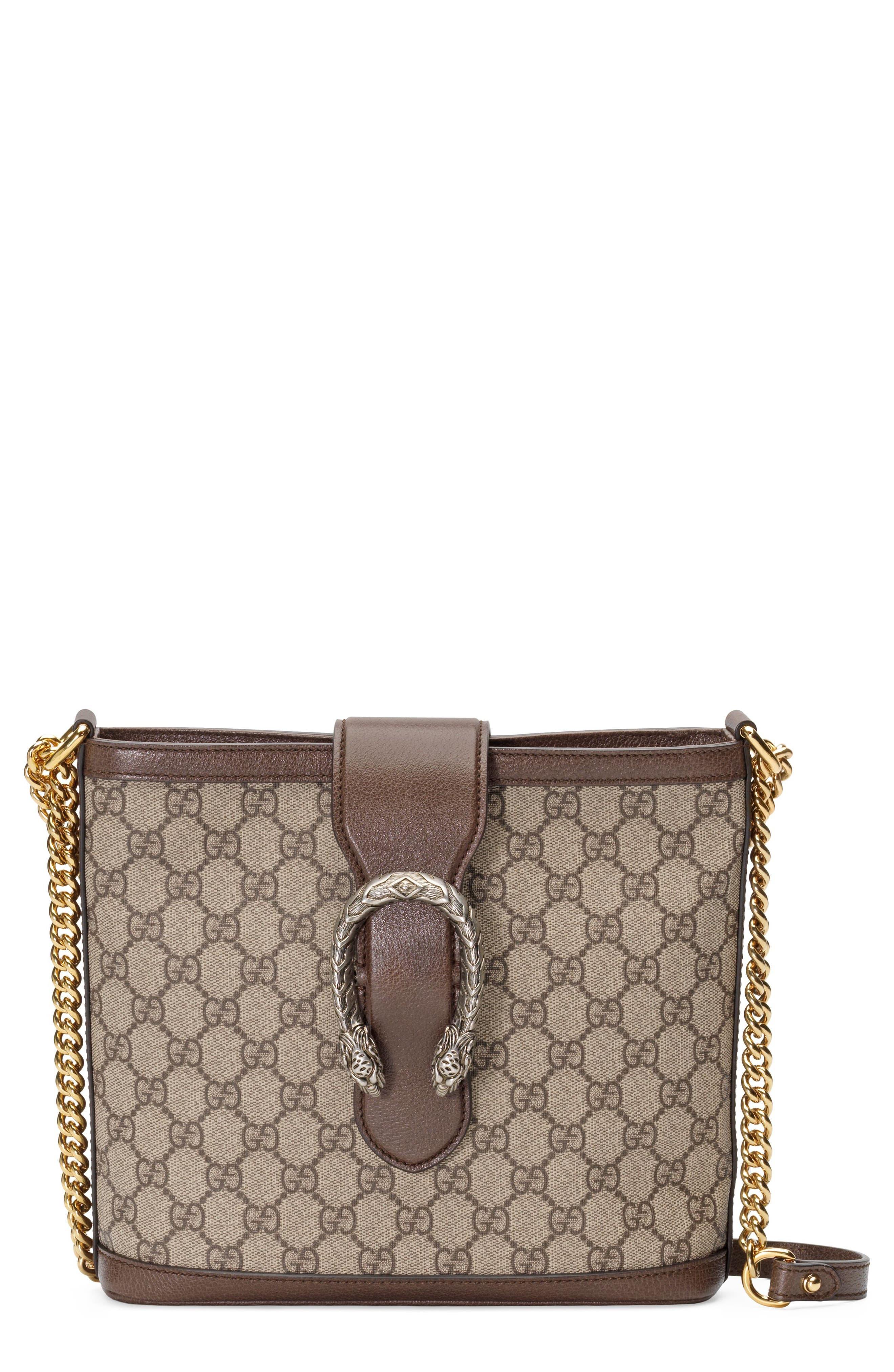 Medium Dionysus Supreme Canvas Shoulder Bag,                         Main,                         color, BEIGE EBONY/ NEW ACERO