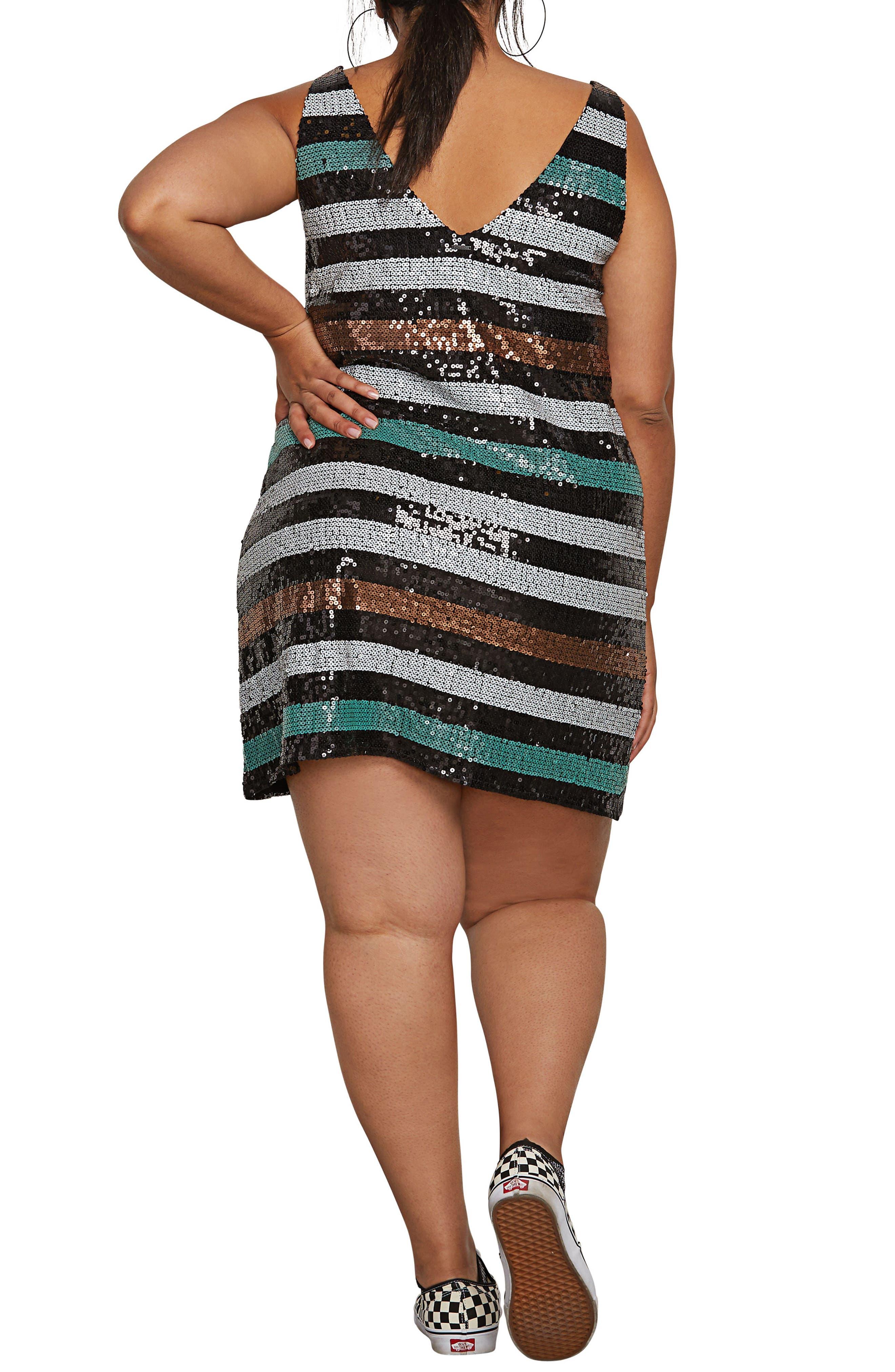 Seek Whence Sequin Dress,                             Alternate thumbnail 2, color,                             MULTI