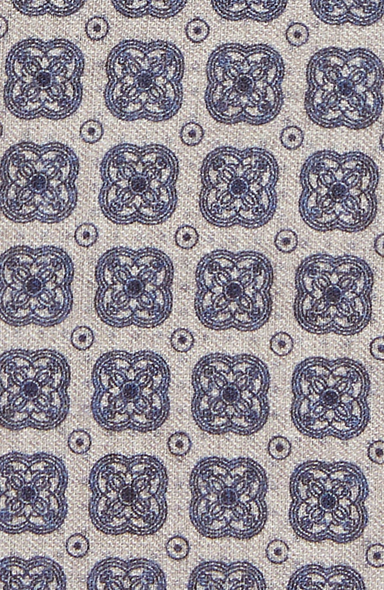 Medallion Wool & Cotton Pocket Square,                             Alternate thumbnail 3, color,                             021