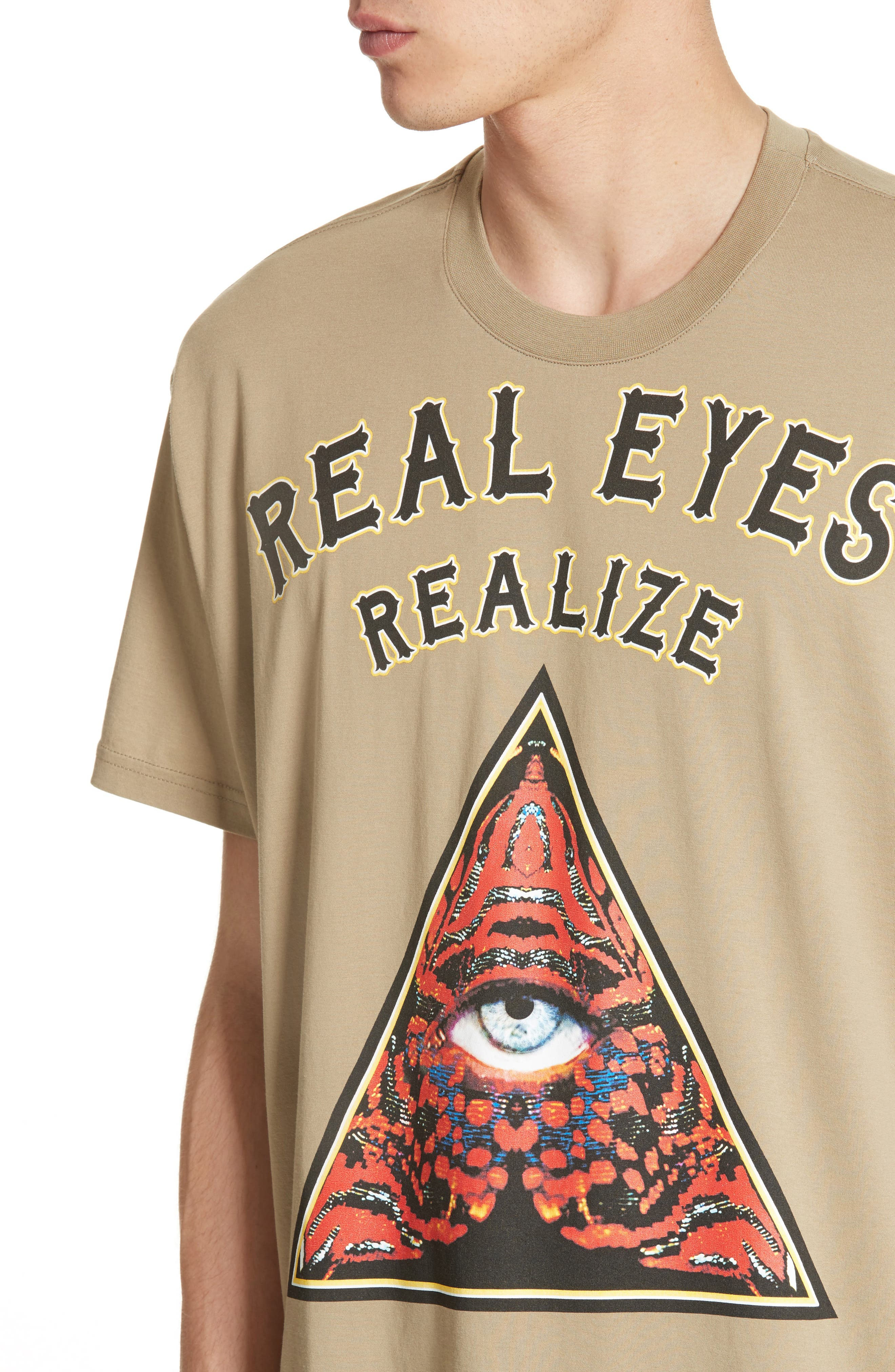 Extra Trim Fit Realize Graphic T-Shirt,                             Alternate thumbnail 4, color,                             333