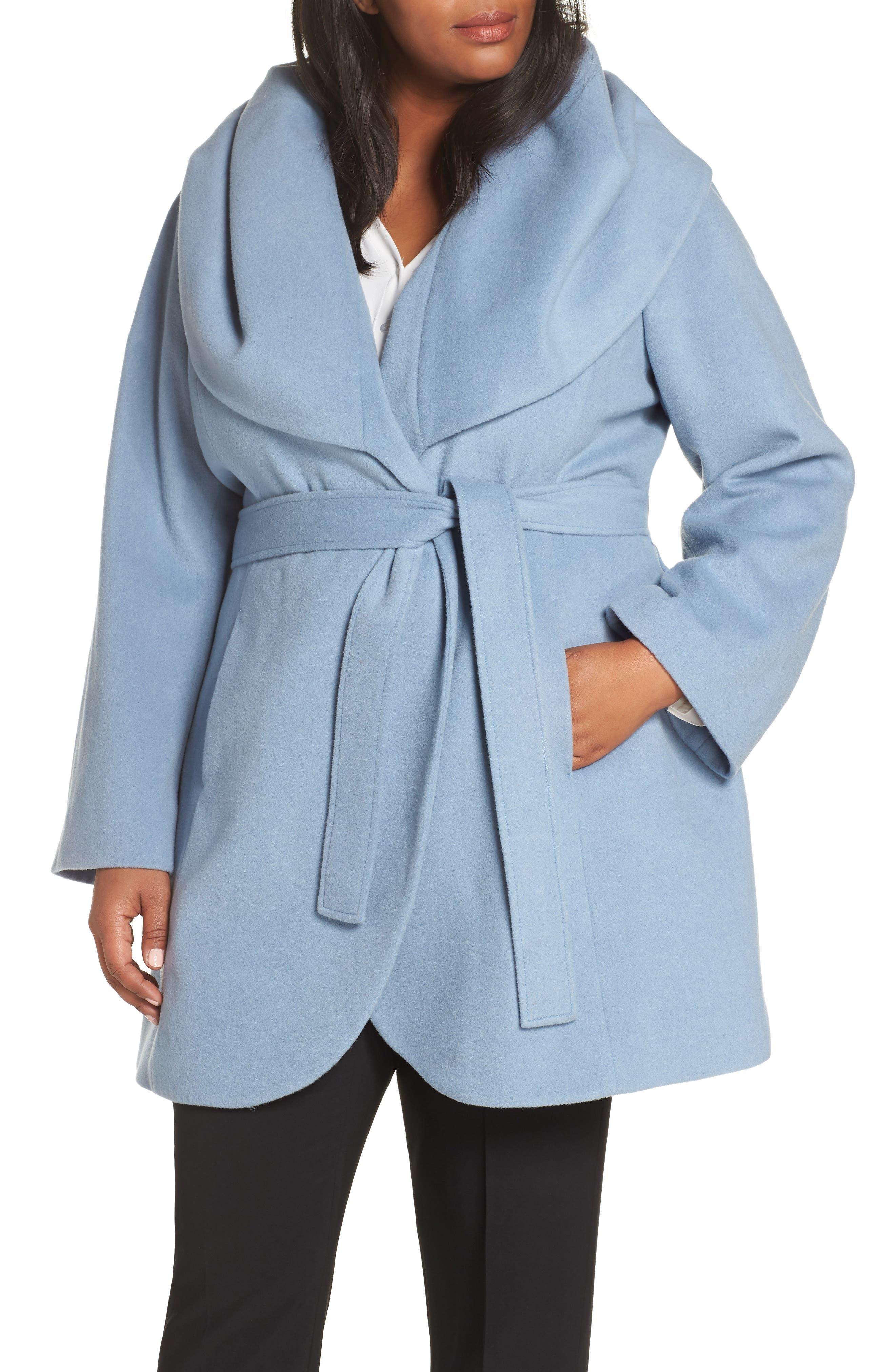 Marla Cutaway Wrap Coat with Oversize Collar,                             Alternate thumbnail 13, color,