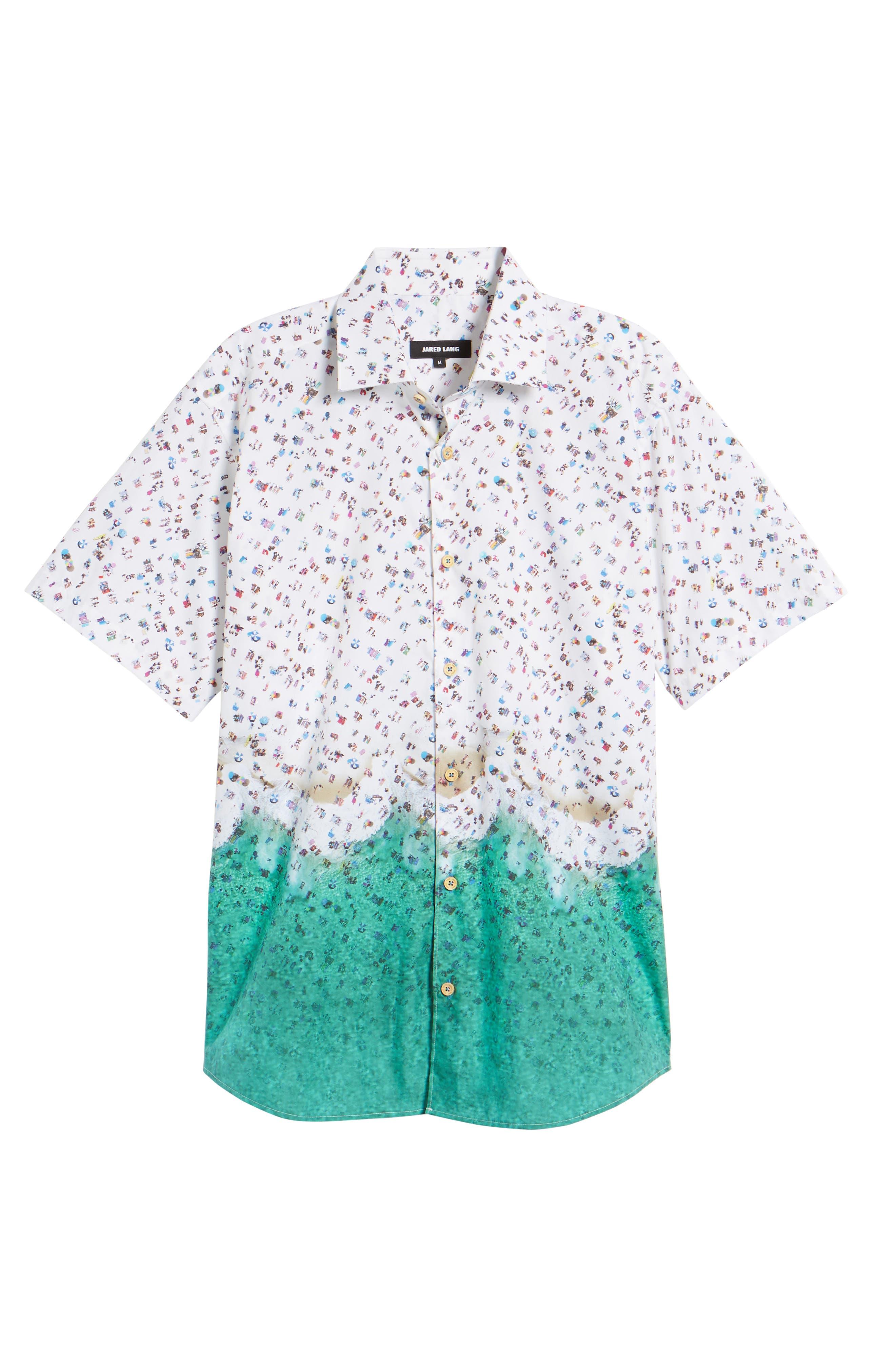 Slim Fit Beach Sport Shirt,                             Alternate thumbnail 6, color,                             990