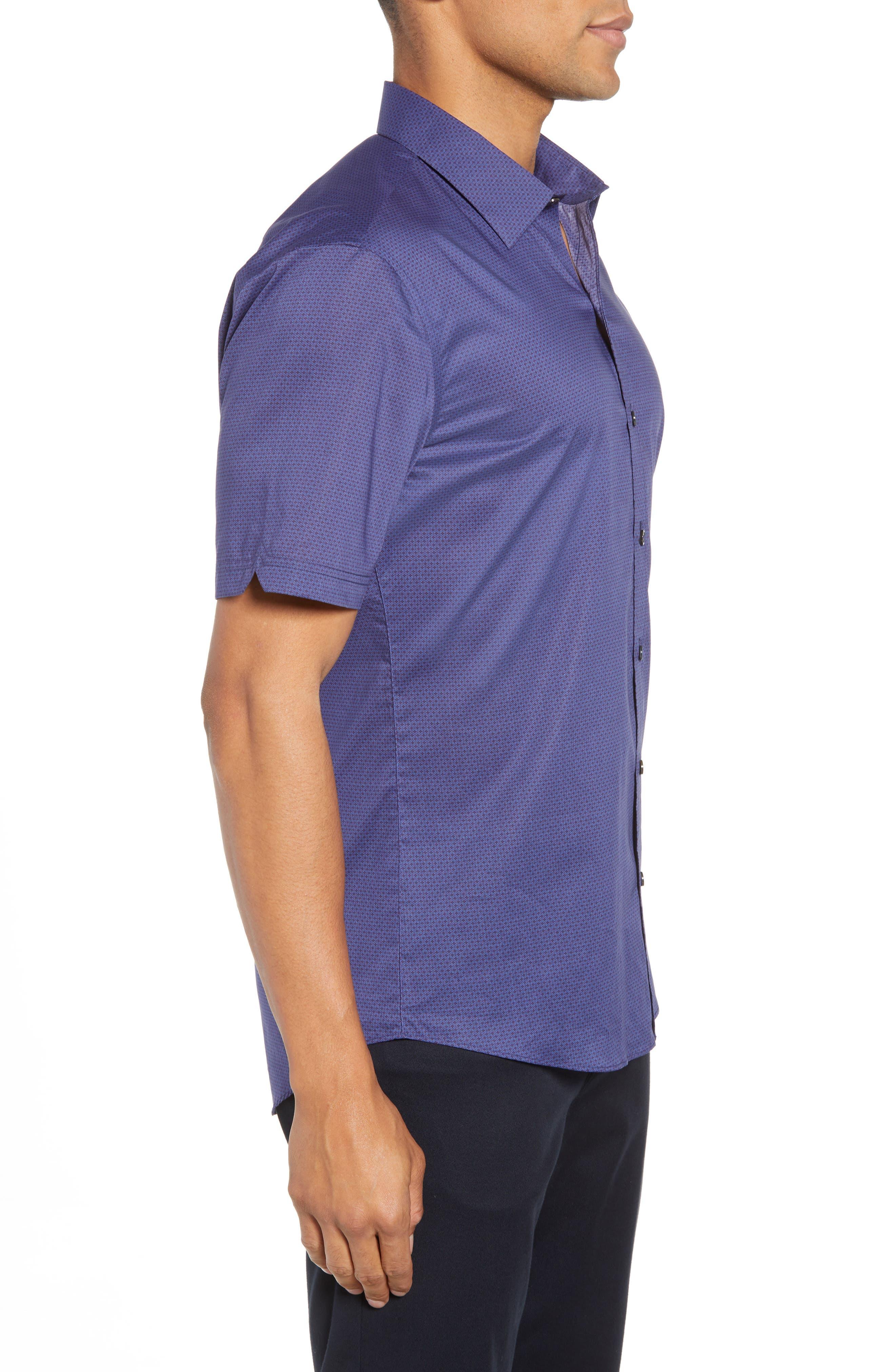 Avellan Regular Fit Sport Shirt,                             Alternate thumbnail 3, color,                             BLUE