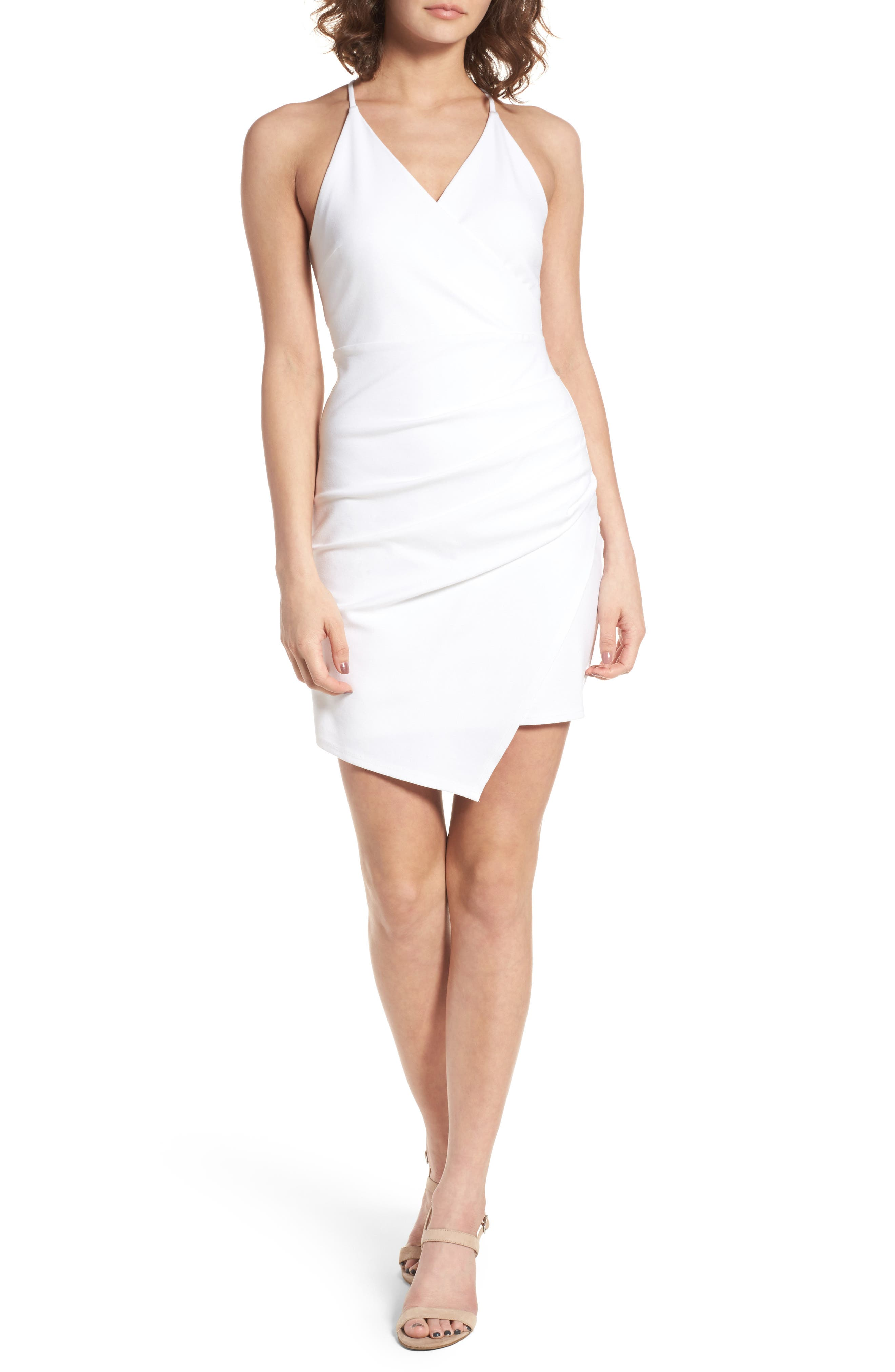 Asymmetrical Body-Con Dress,                             Main thumbnail 2, color,