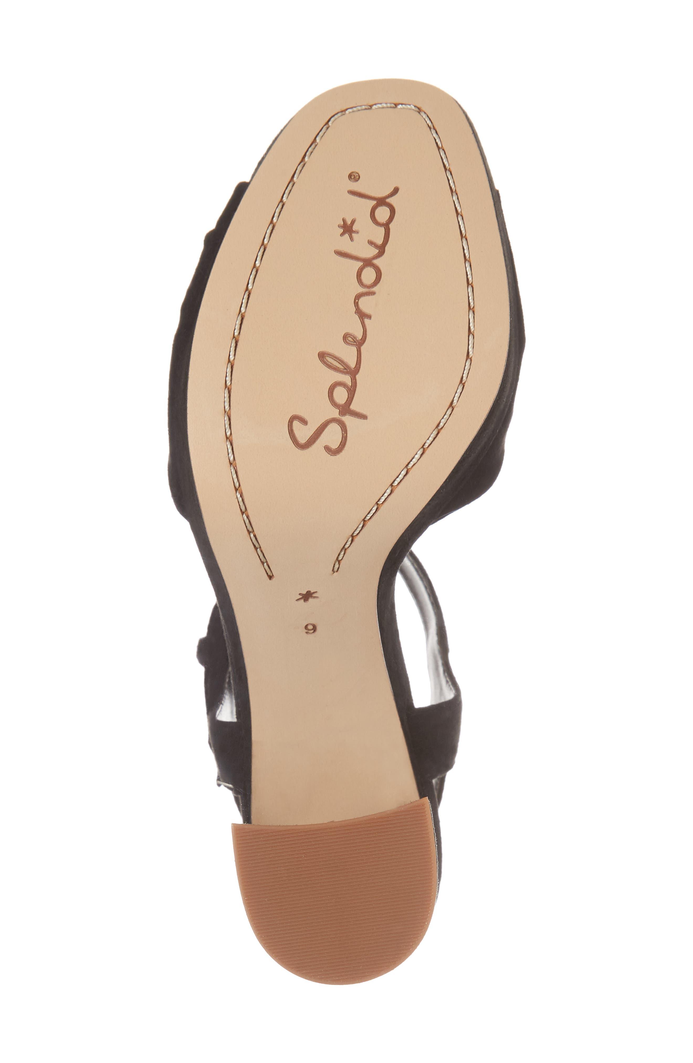 Bates Platform Sandal,                             Alternate thumbnail 6, color,                             BLACK SUEDE