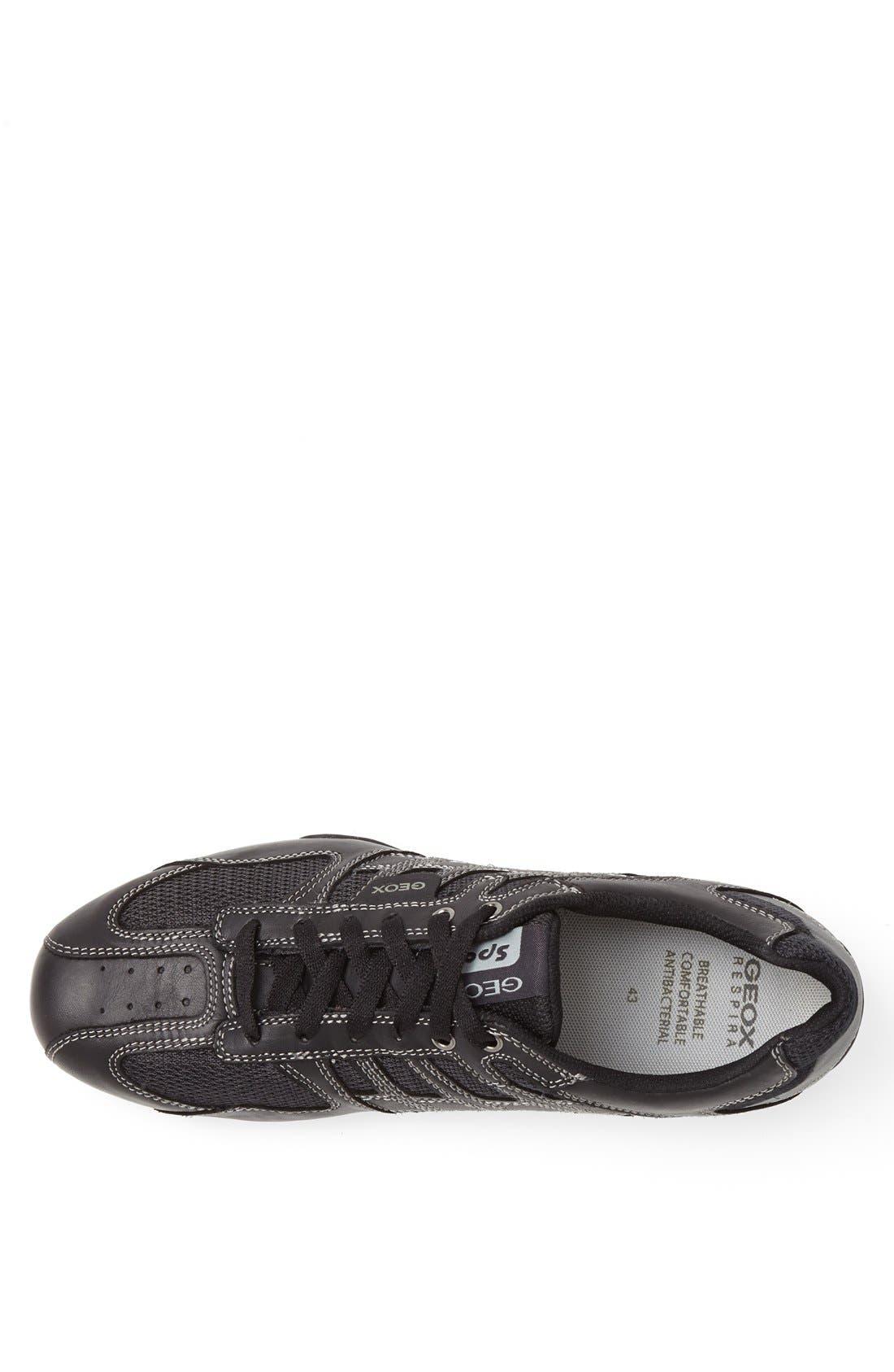 'Snake 95' Sneaker,                             Alternate thumbnail 3, color,                             BLACK/ LEAD