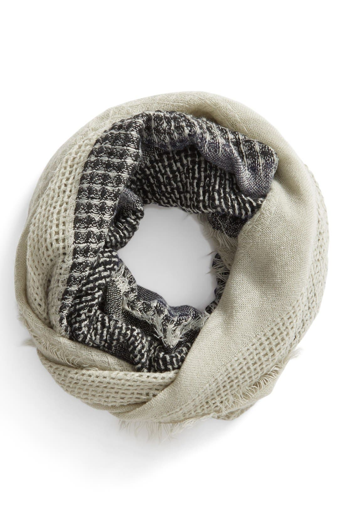 Stripe Open Weave Infinity Scarf,                             Main thumbnail 1, color,                             030
