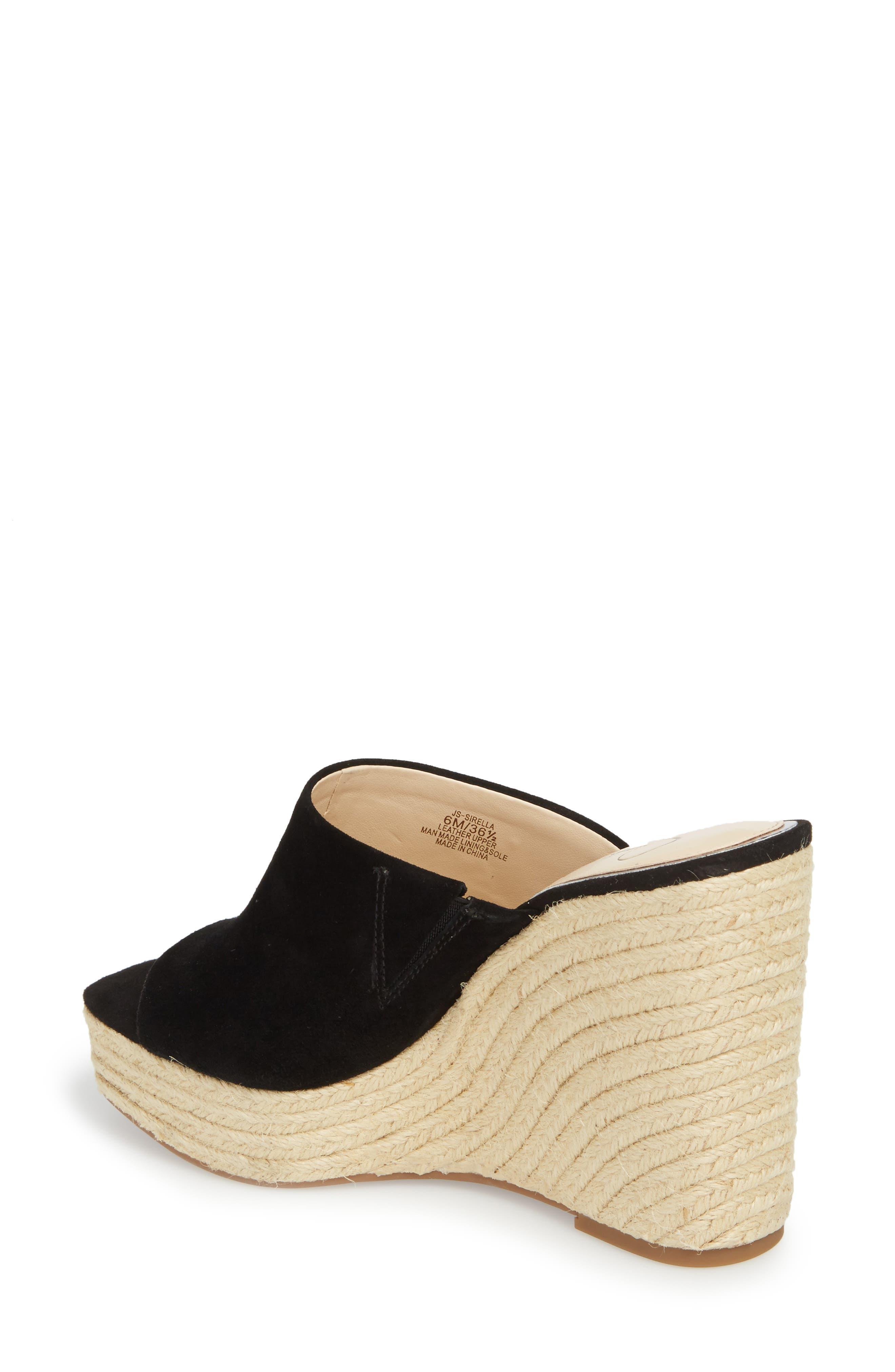 Sirella Platform Wedge Slide Sandal,                             Alternate thumbnail 4, color,