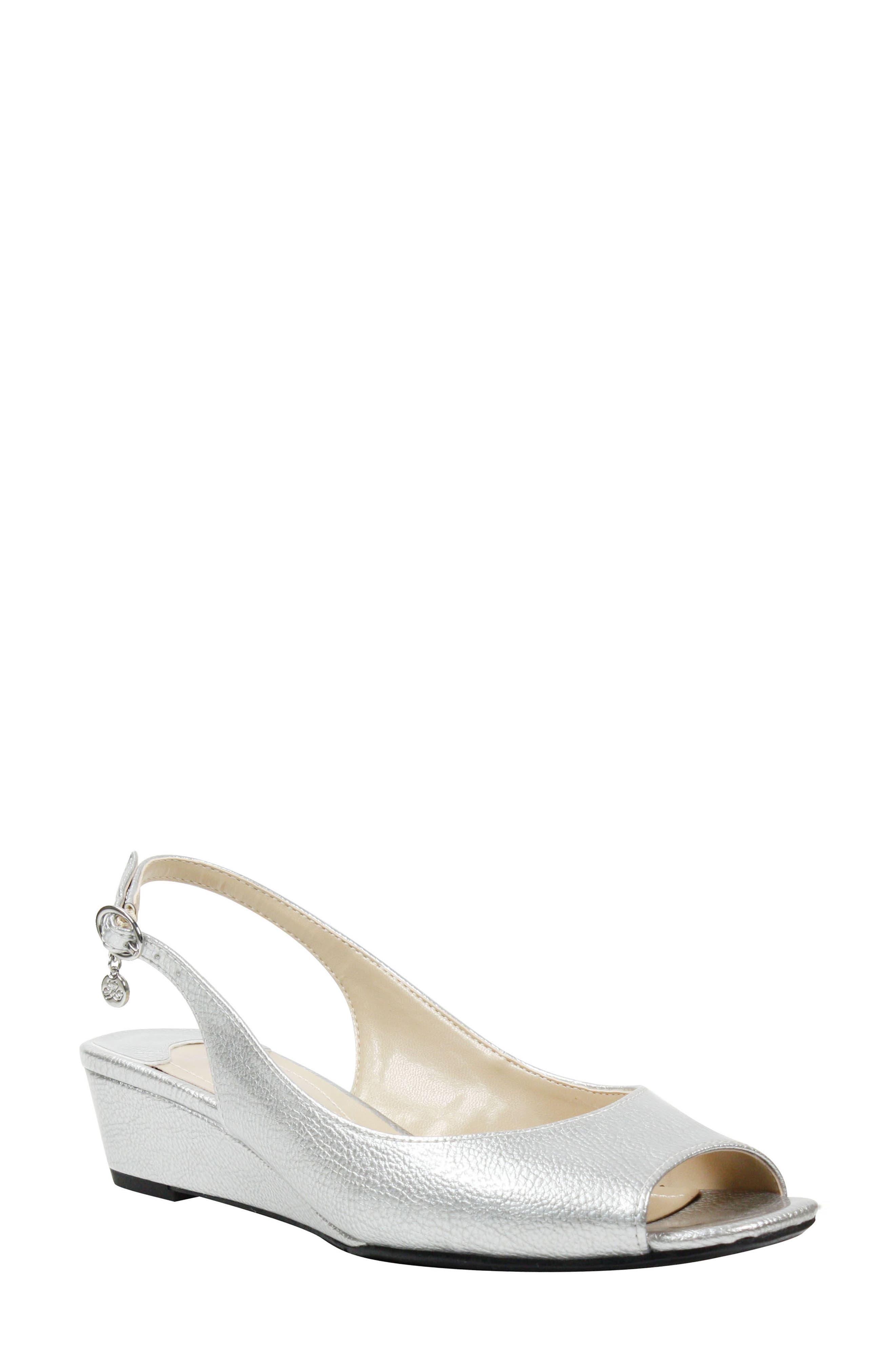 J. Renee Alivia Slingback Sandal, Metallic