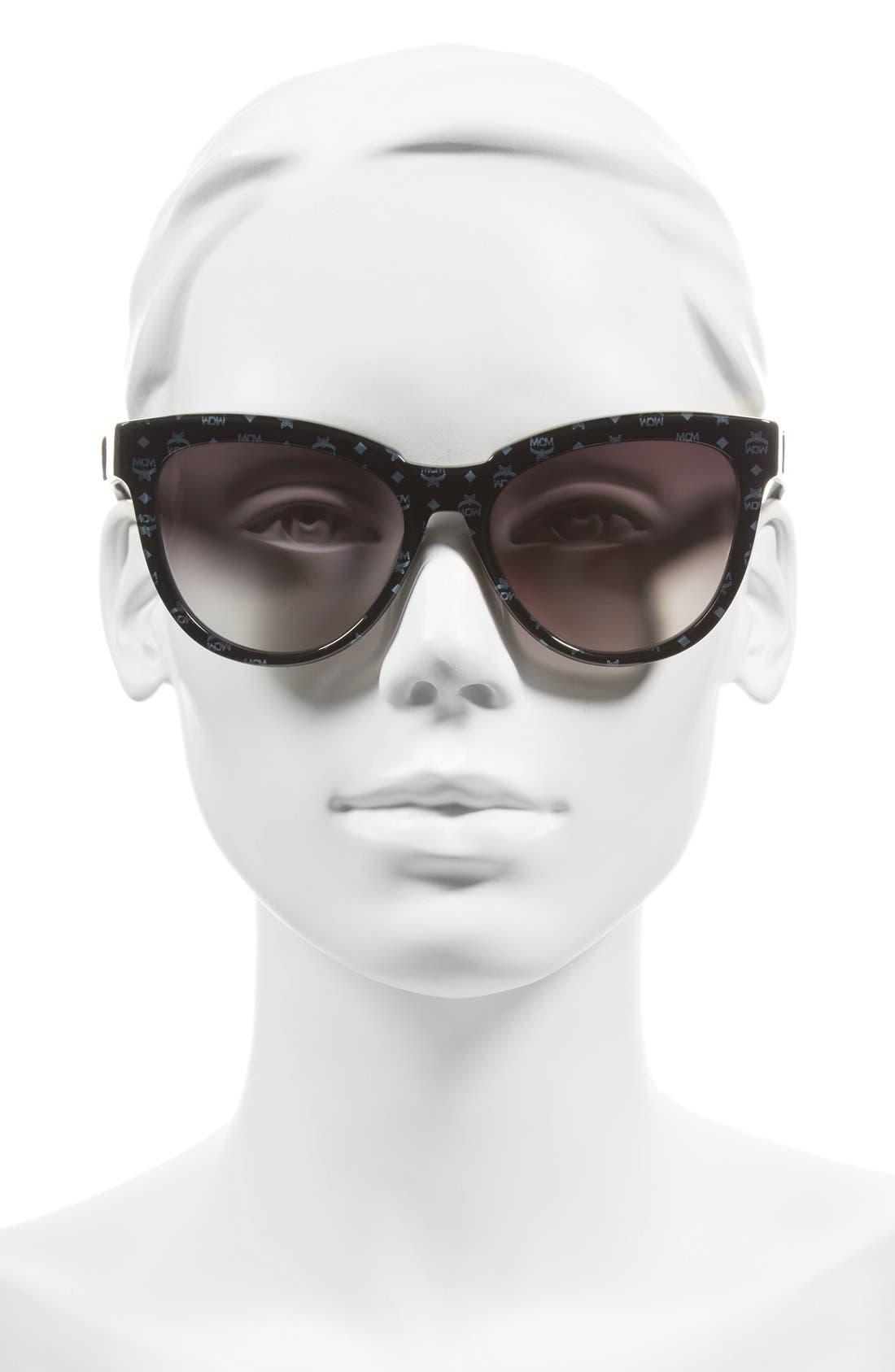 56mm Retro Sunglasses,                             Alternate thumbnail 2, color,                             006
