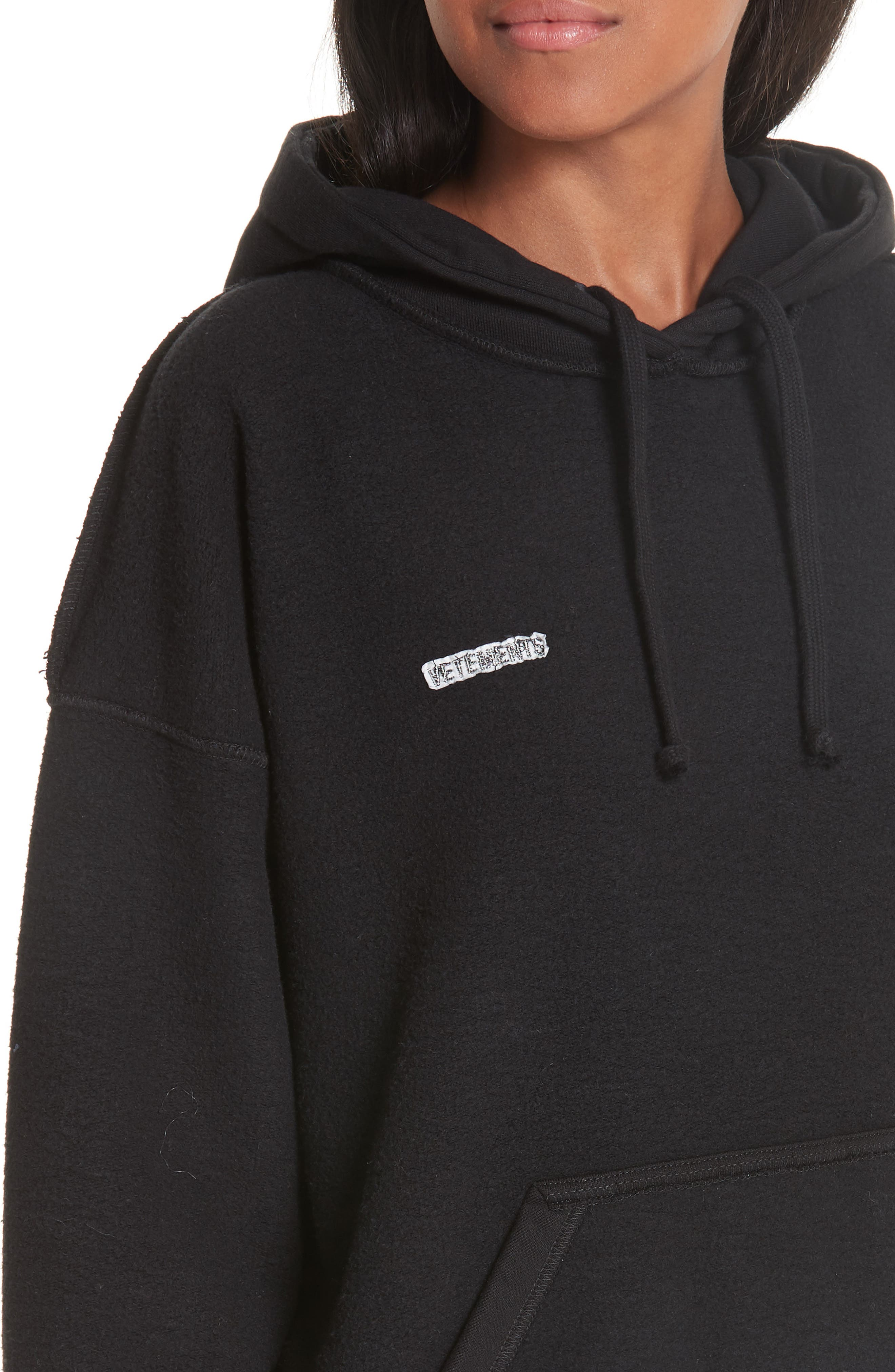 Inside-Out Hoodie,                             Alternate thumbnail 4, color,                             BLACK