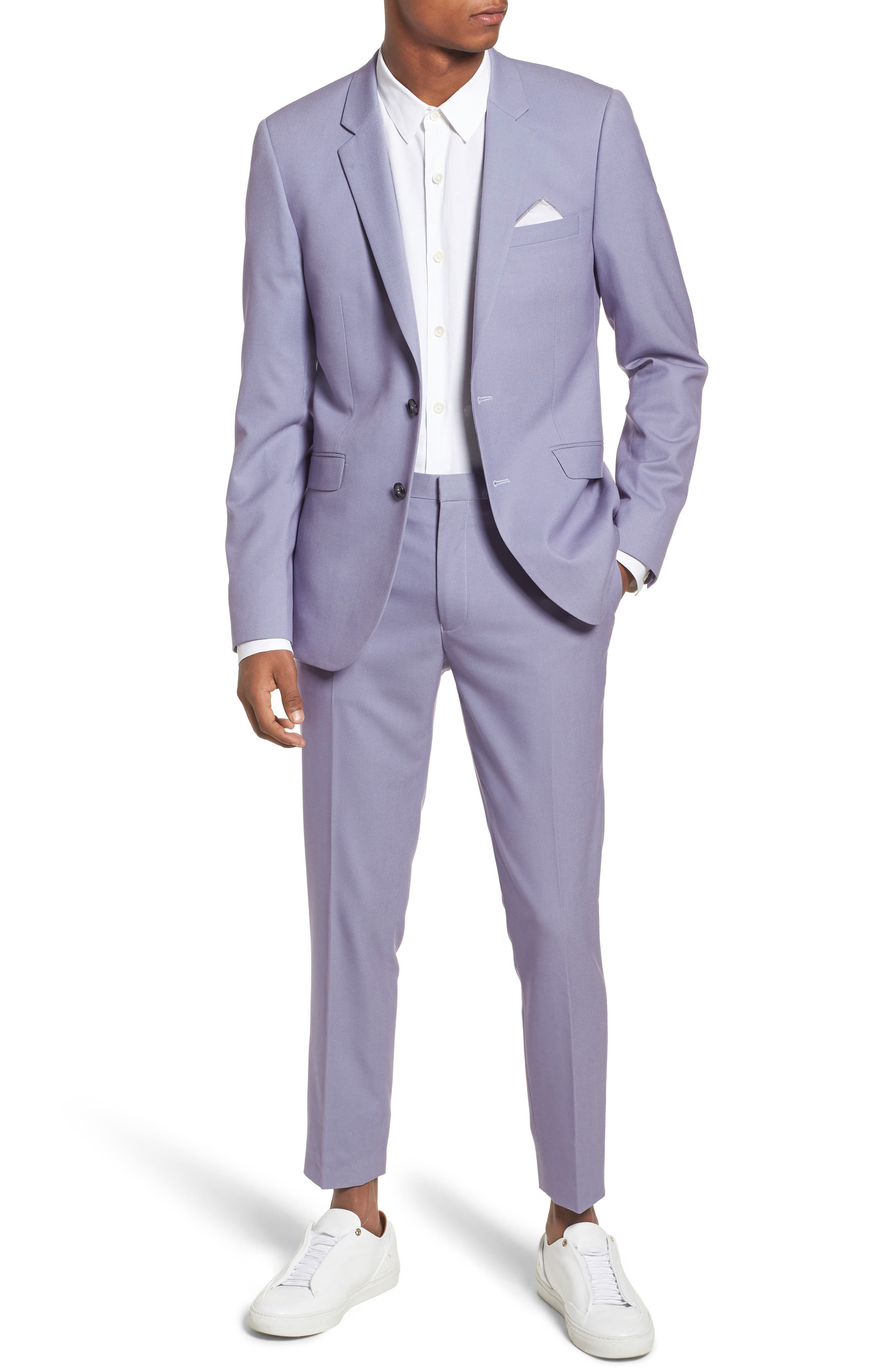 Skinny Fit Suit Trousers,                             Alternate thumbnail 14, color,