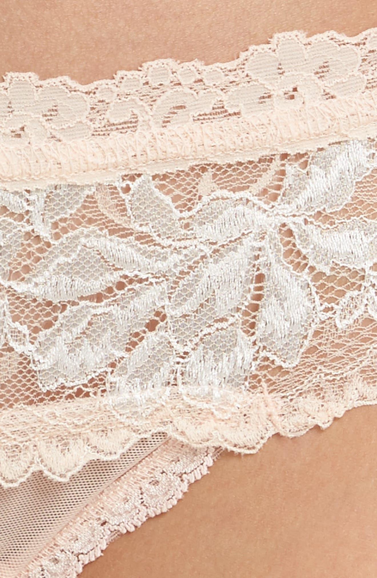 Alexa Lace Bikini,                             Alternate thumbnail 4, color,                             PINK