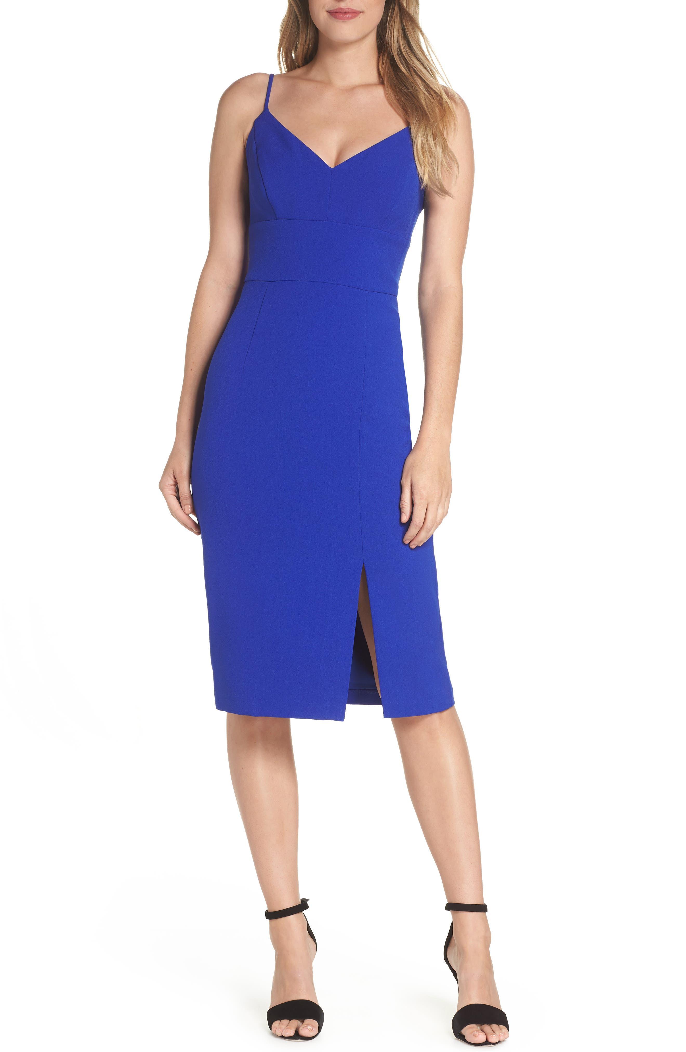 Eliza J Sleeveless Cocktail Dress, 8 (similar to 1) - Blue