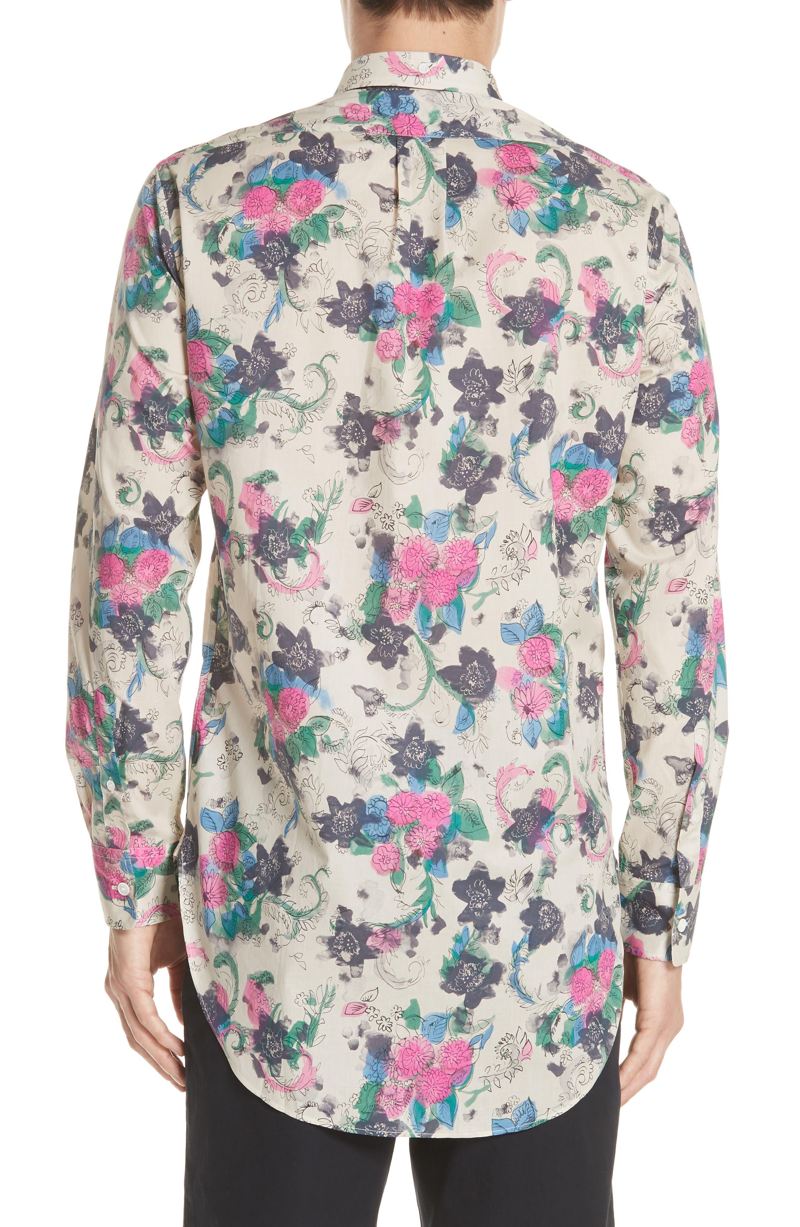 Strenton Floral Print Shirt,                             Alternate thumbnail 2, color,                             250