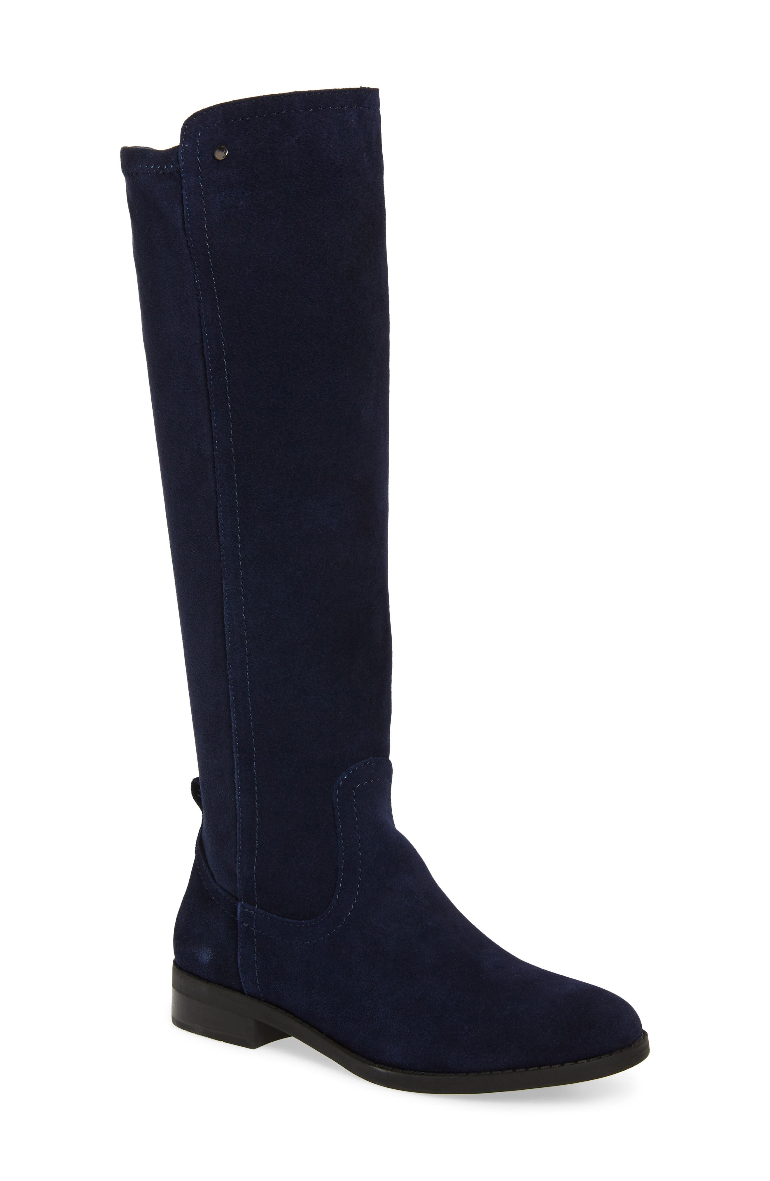 Very Volatile Anchor Knee High Boot, Blue