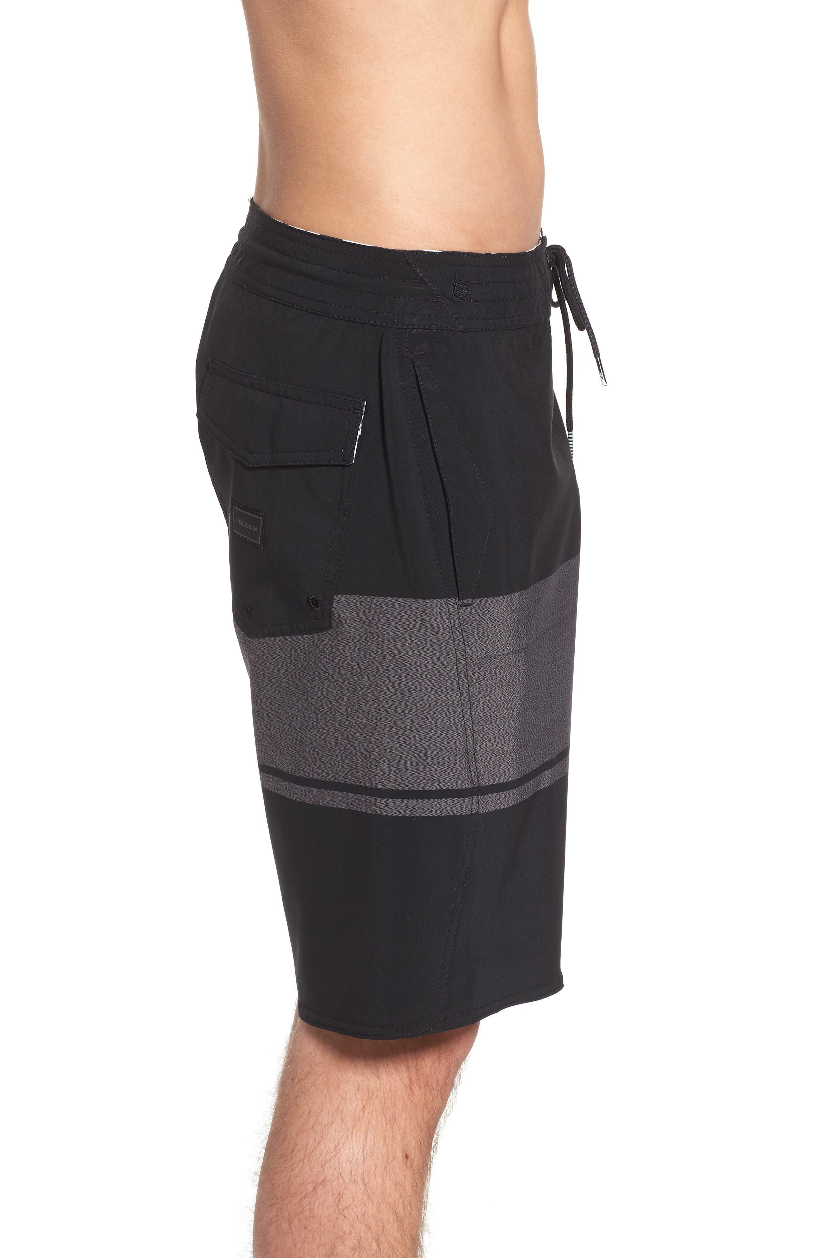 Quarter Static Stoney Board Shorts,                             Alternate thumbnail 3, color,                             BLACK