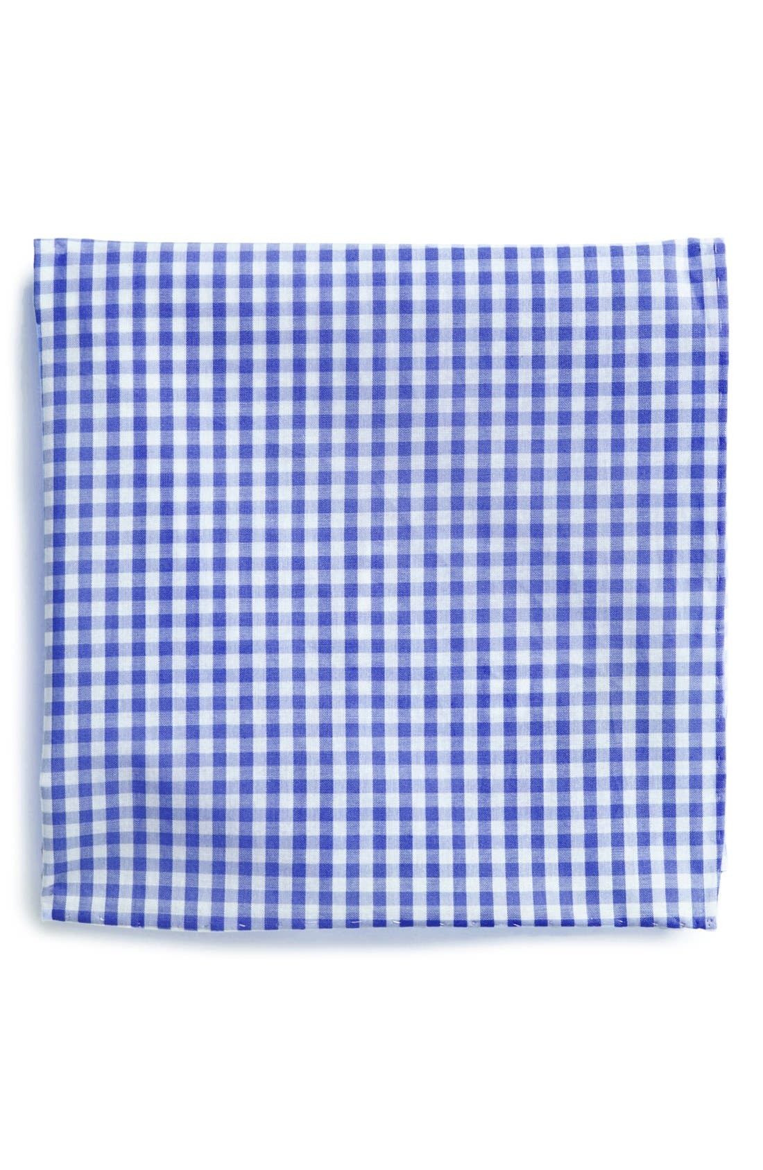 Cotton Gingham Pocket Square,                             Main thumbnail 2, color,