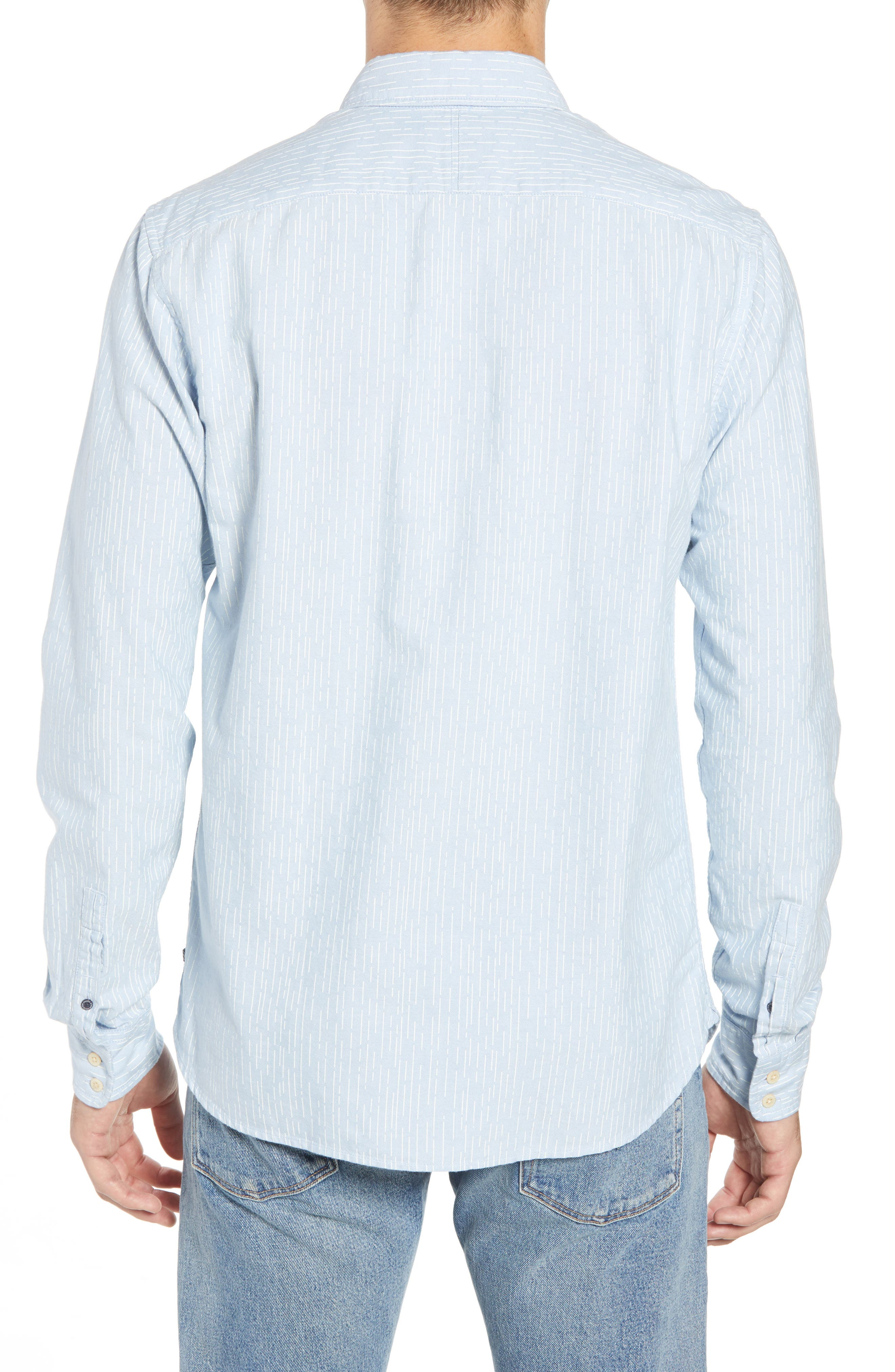 Amsterdams Blauw Striped Sport Shirt,                             Alternate thumbnail 2, color,                             420