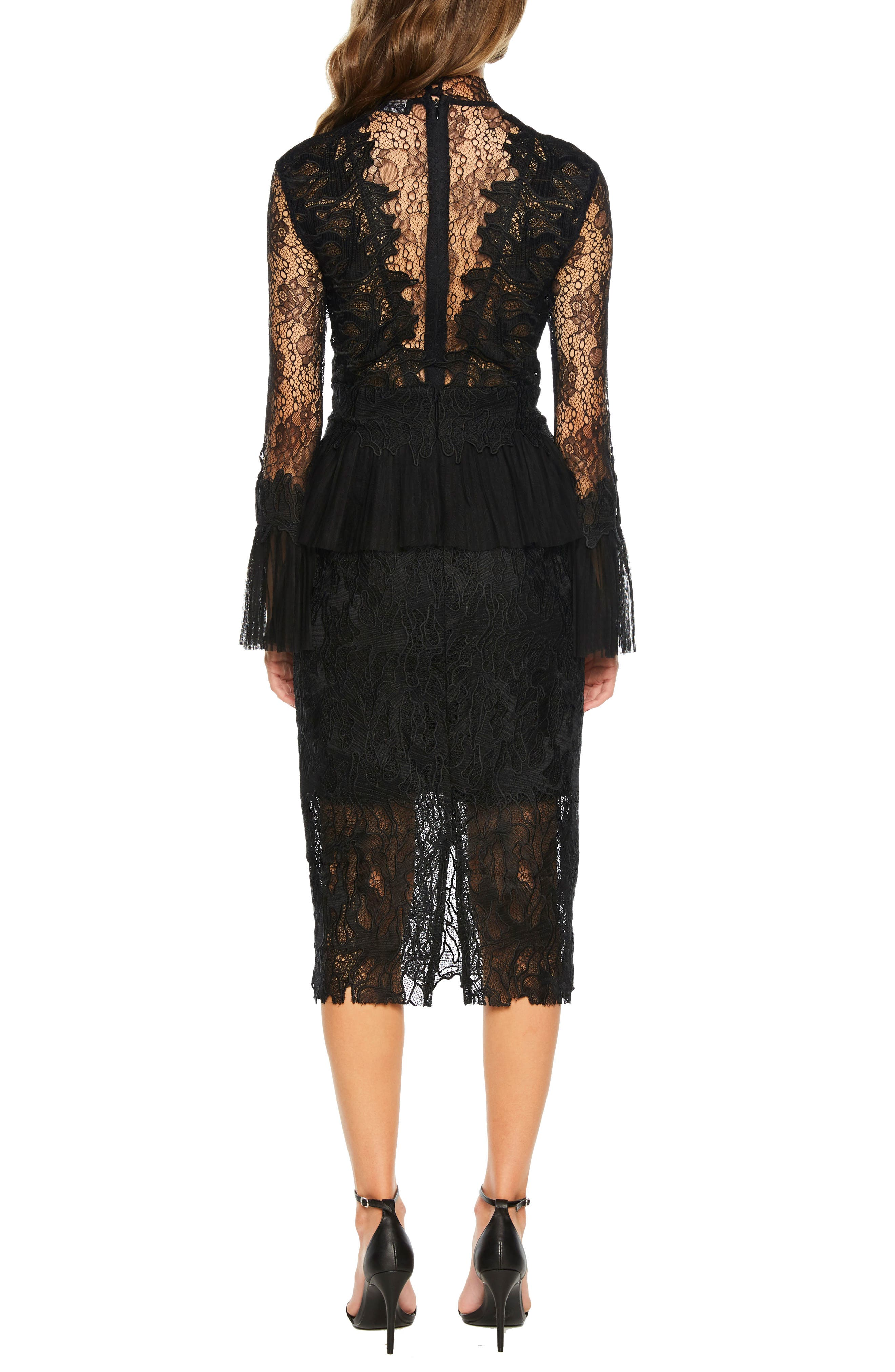 Frankie Lace Dress,                             Alternate thumbnail 2, color,                             001