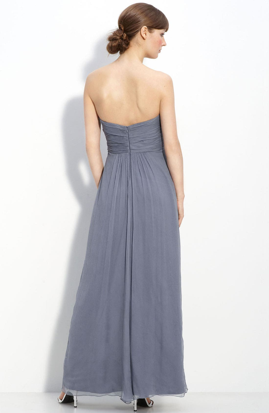 Strapless Crinkle Chiffon Gown,                             Alternate thumbnail 24, color,