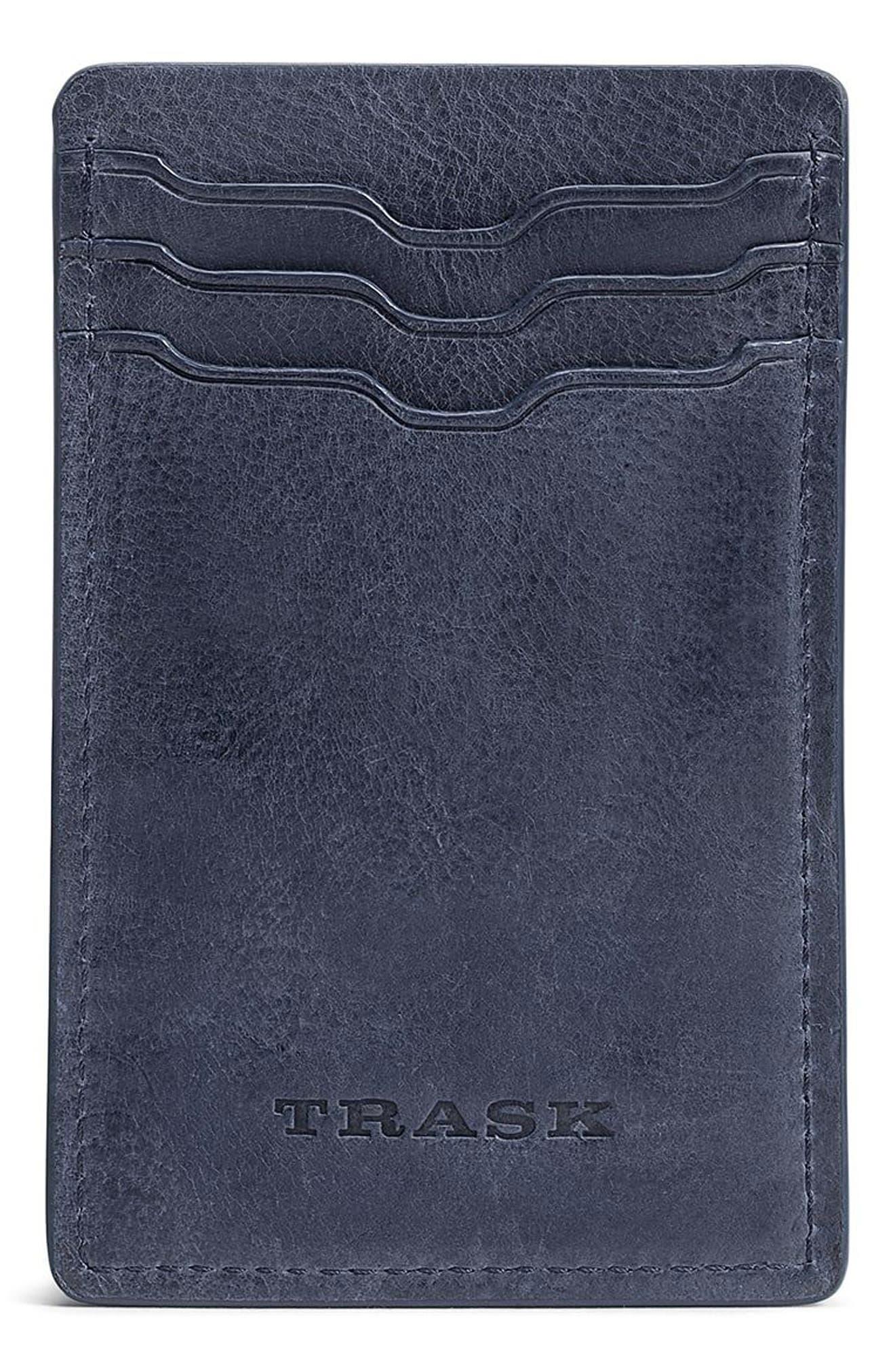Canyon Money Clip Card Case,                         Main,                         color, NAVY