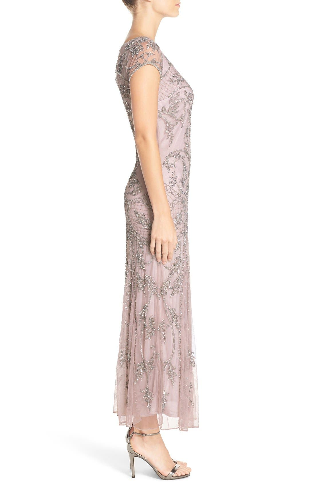 Embellished Mesh Gown,                             Alternate thumbnail 36, color,