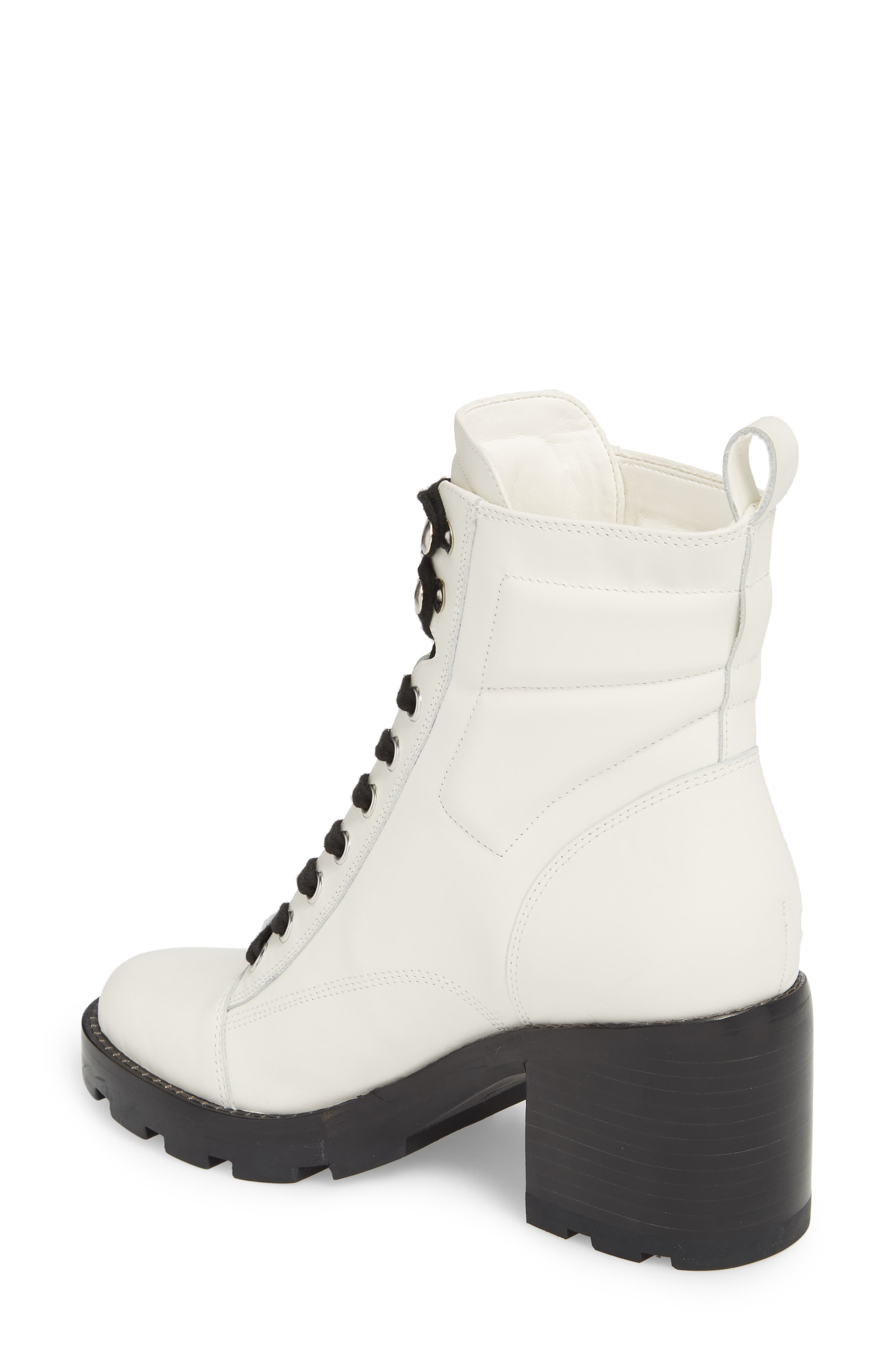 Warid Moto Bootie,                             Alternate thumbnail 2, color,                             IVORY LEATHER