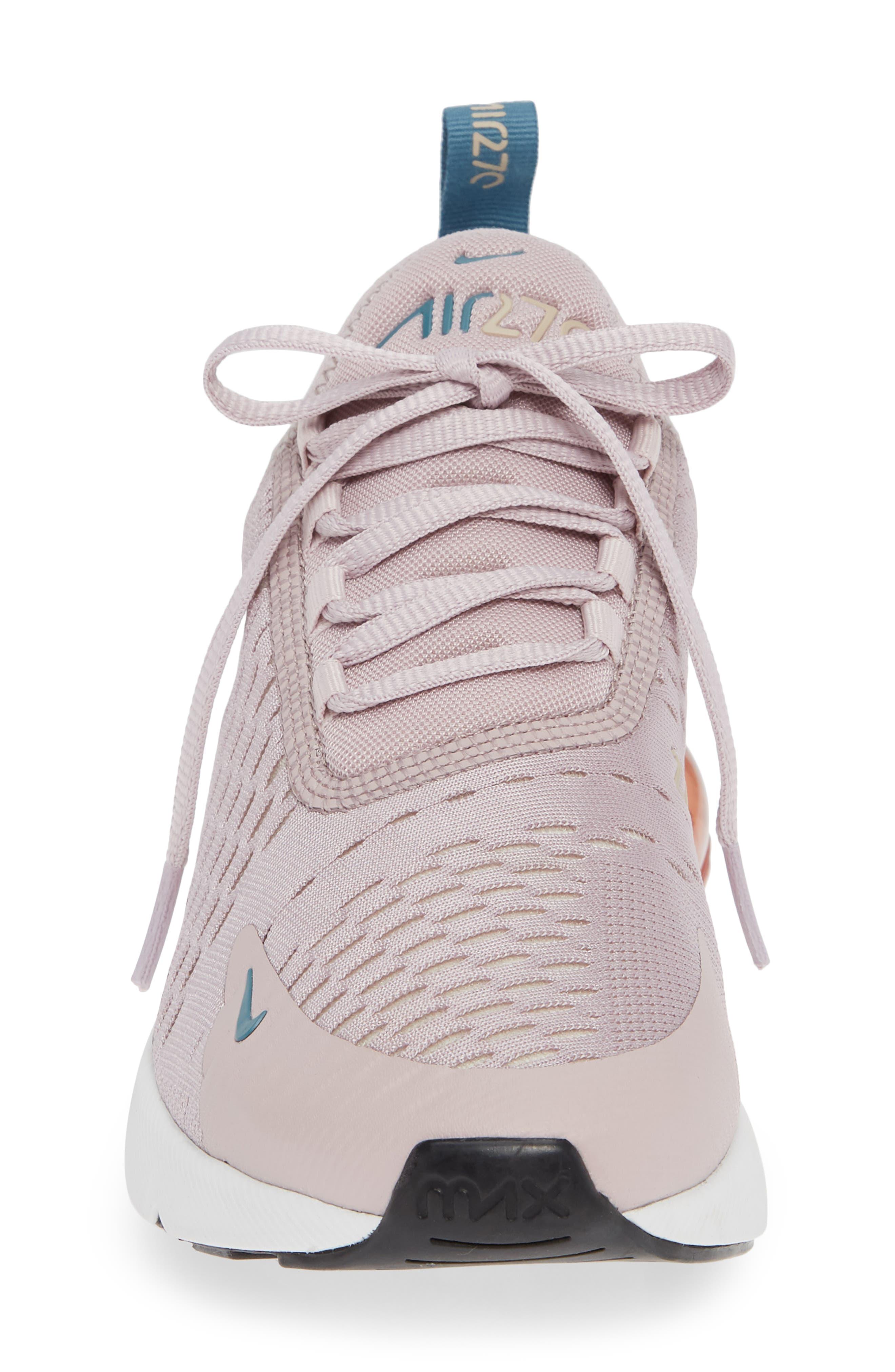 Air Max 270 Premium Sneaker,                             Alternate thumbnail 4, color,                             PARTICLE ROSE/ CELESTIAL TEAL