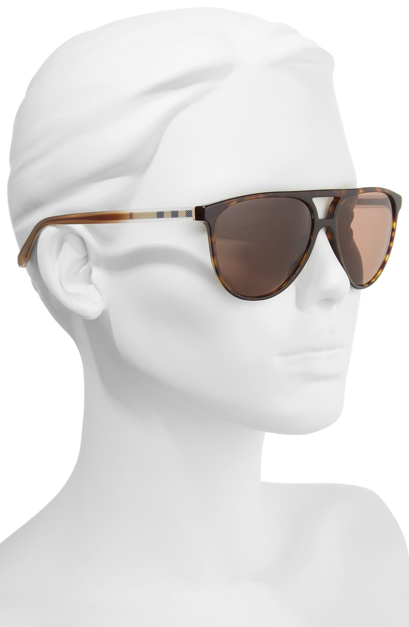 58mm Aviator Sunglasses,                             Alternate thumbnail 2, color,