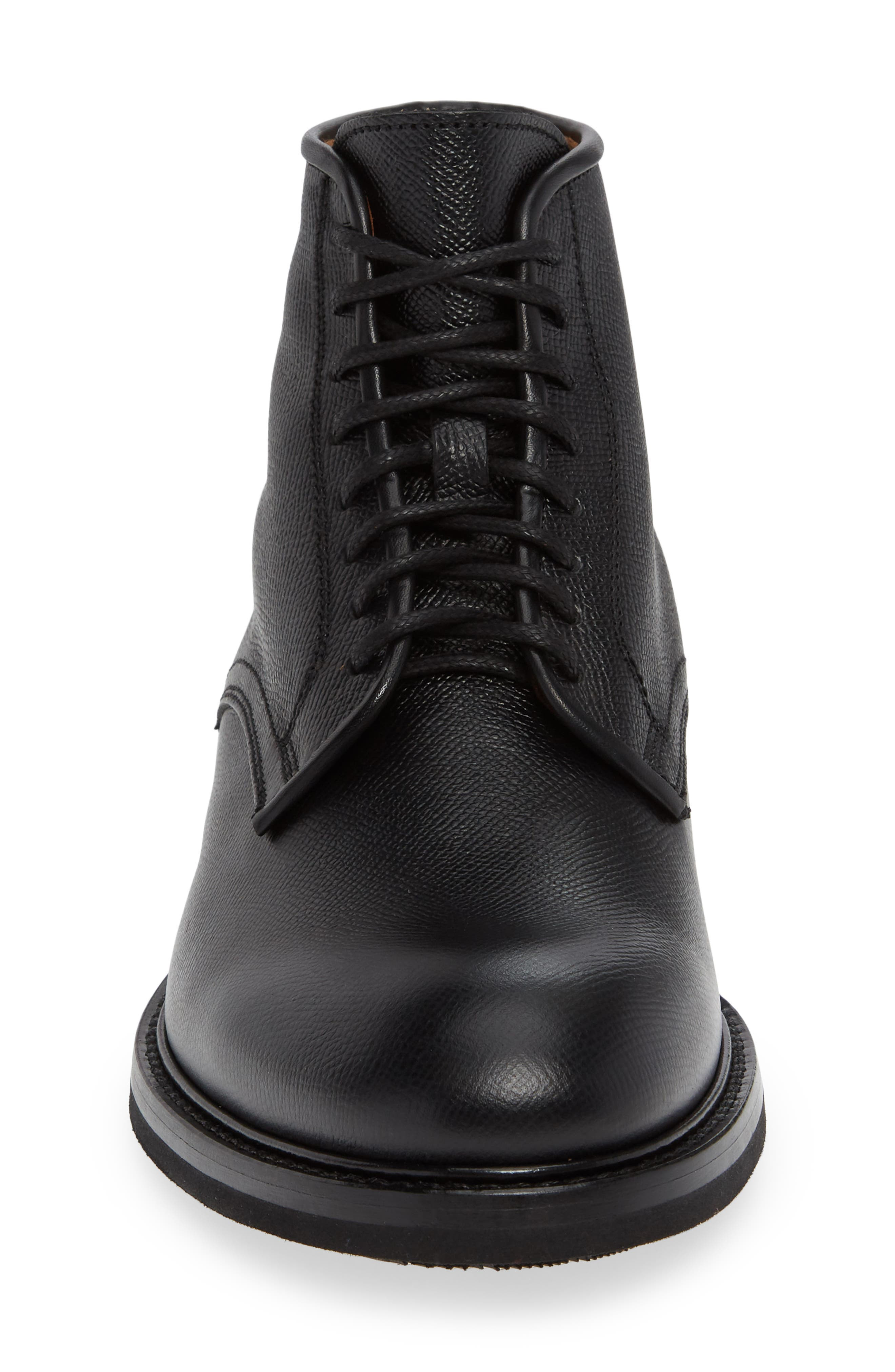 Renzo Weatherproof Plain Toe Waterproof Boot,                             Alternate thumbnail 4, color,                             BLACK