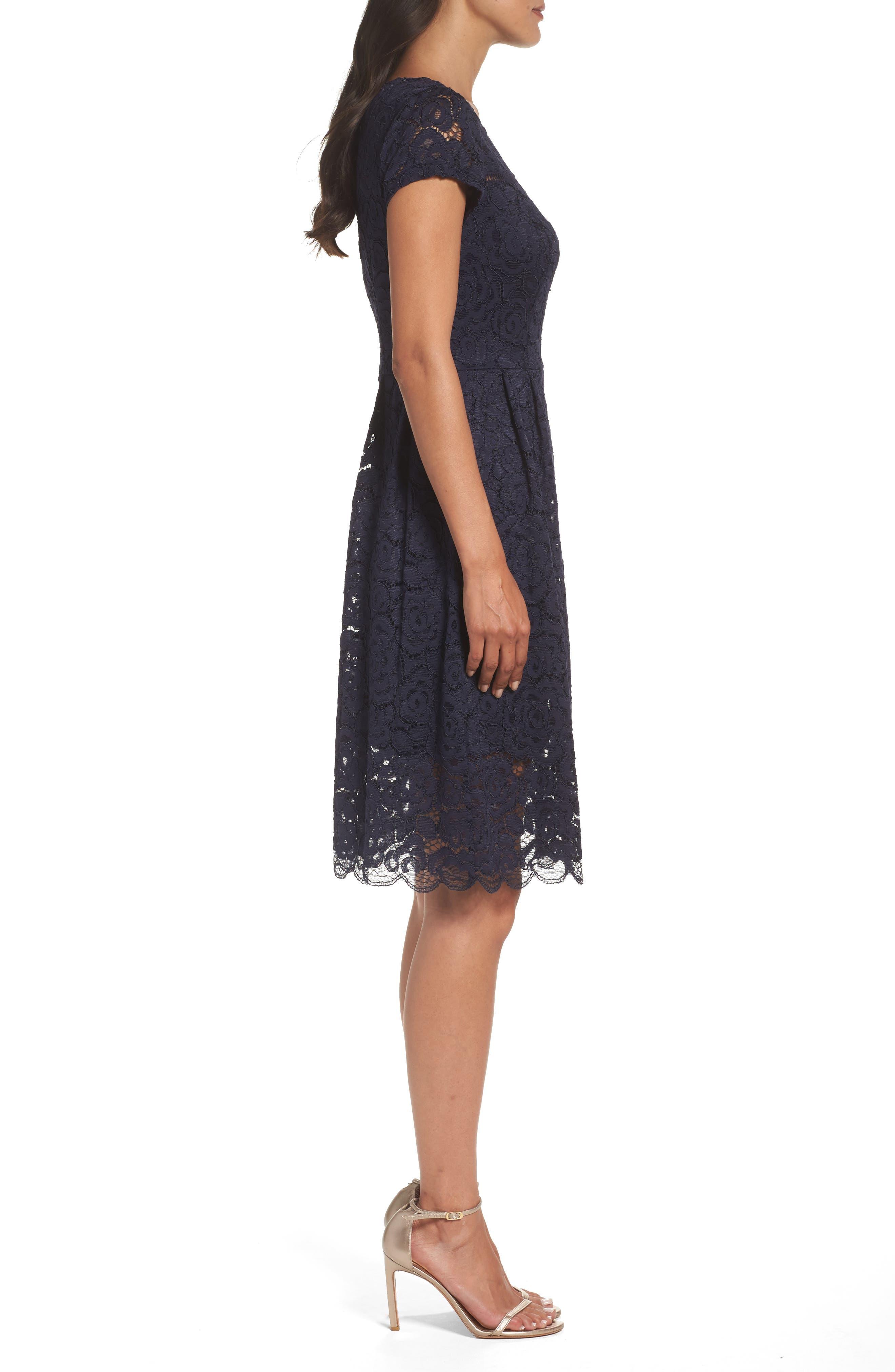 Lace Dress,                             Alternate thumbnail 3, color,                             410