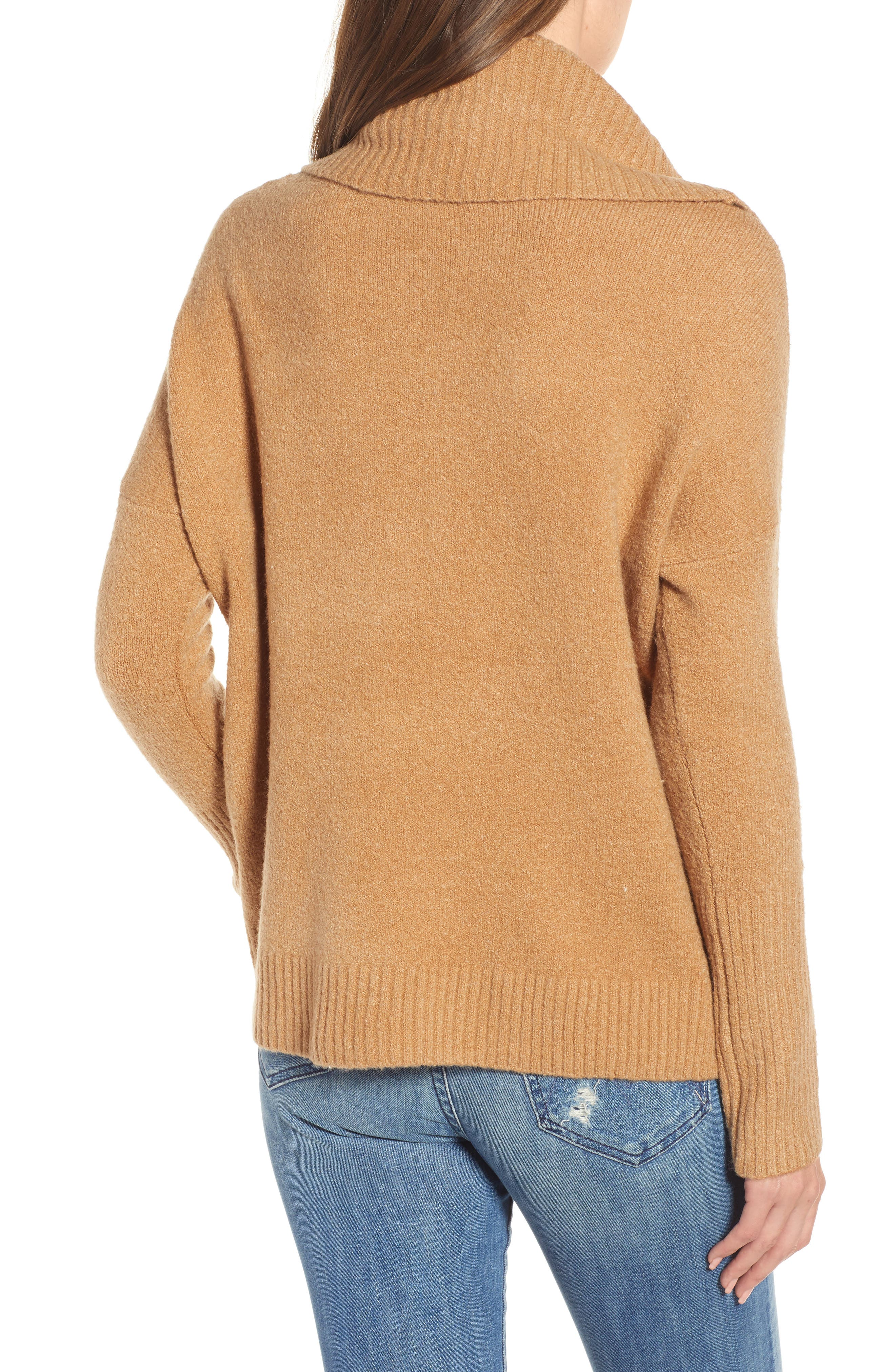 Cowl Neck Sweater,                             Alternate thumbnail 2, color,                             CAMEL MEL