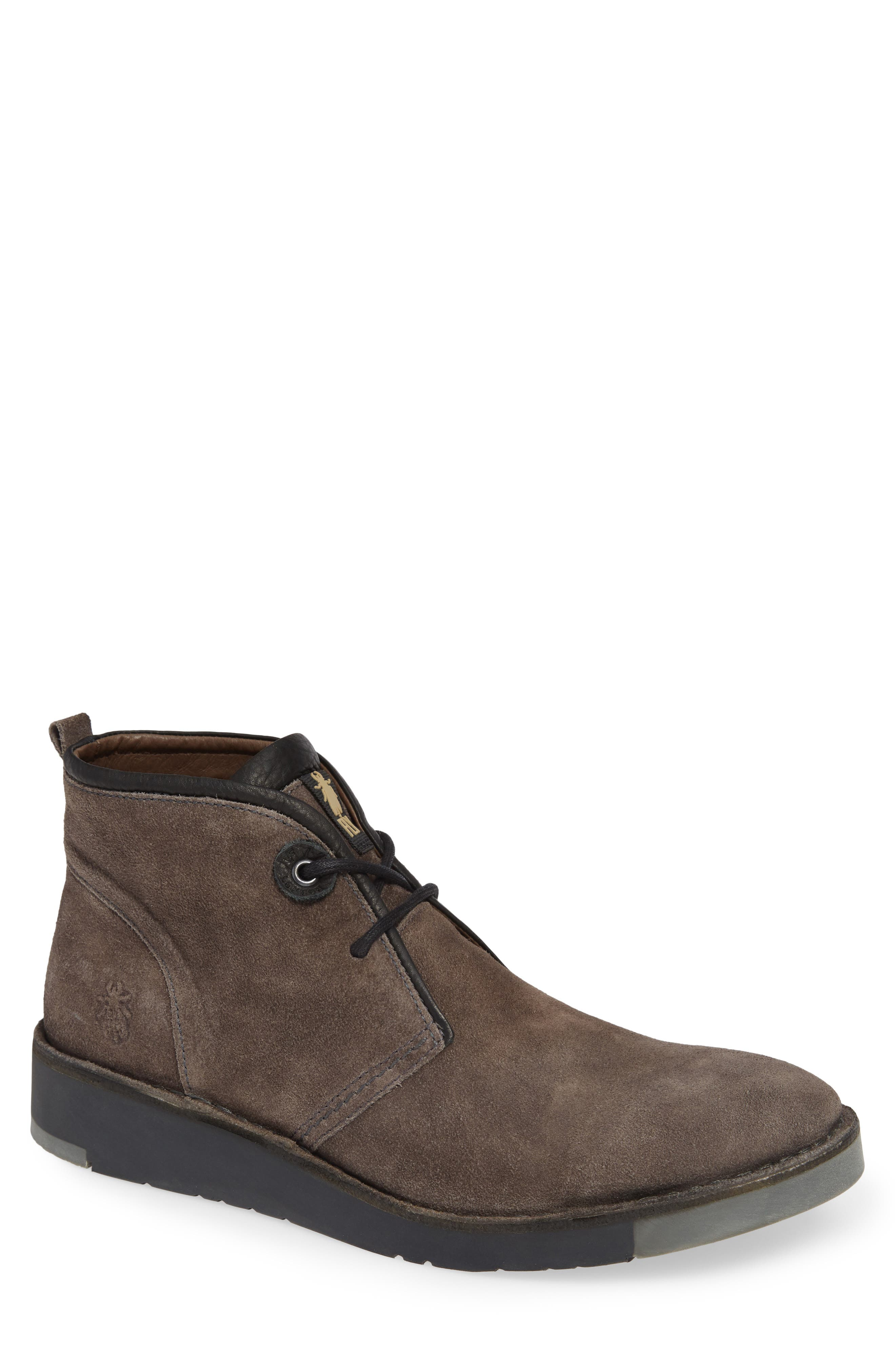 Sion Water Resistant Chukka Boot,                             Main thumbnail 1, color,                             GREY OIL SUEDE