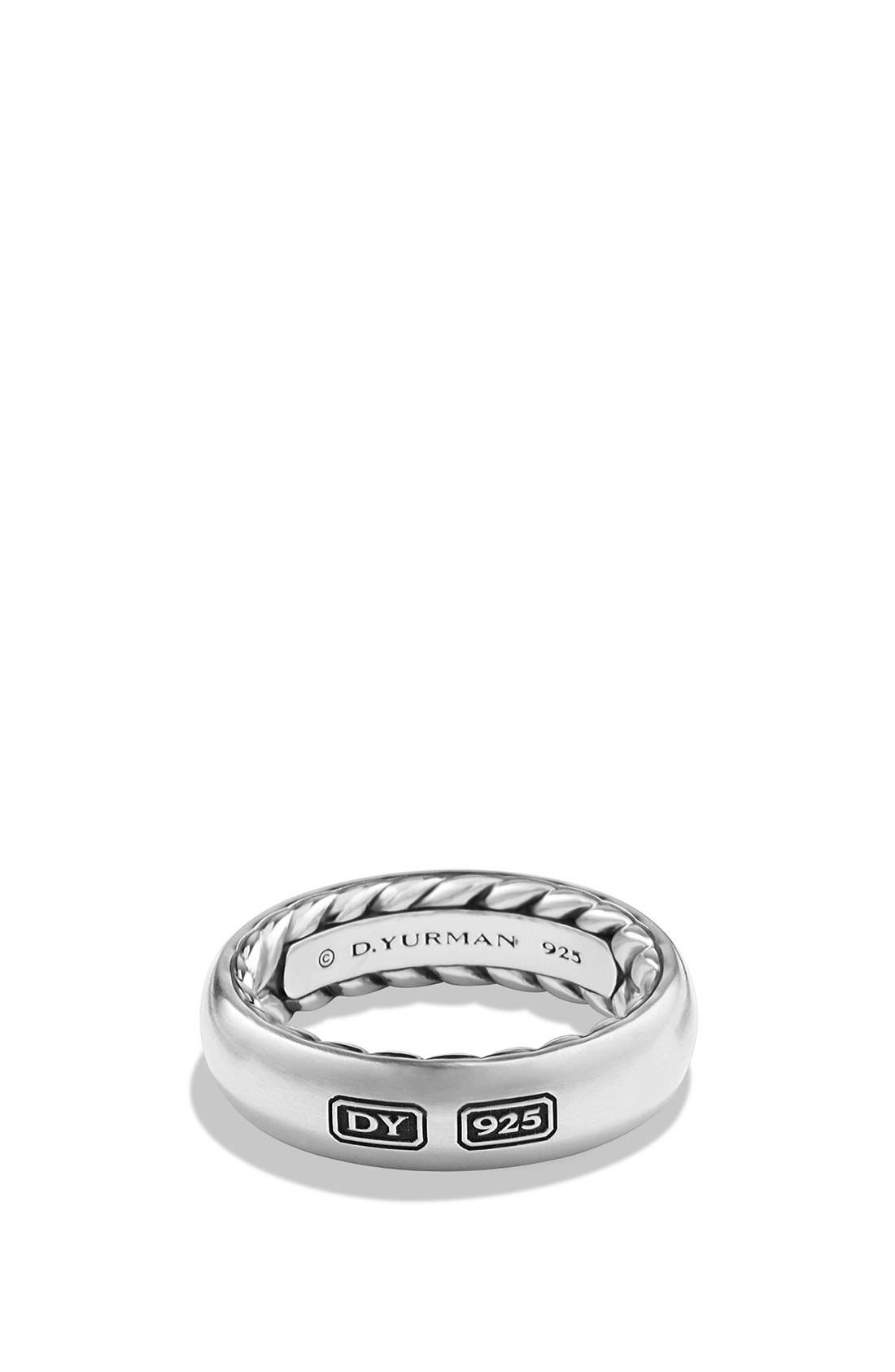 DAVID YURMAN,                             'Streamline' Band Ring,                             Main thumbnail 1, color,                             SILVER